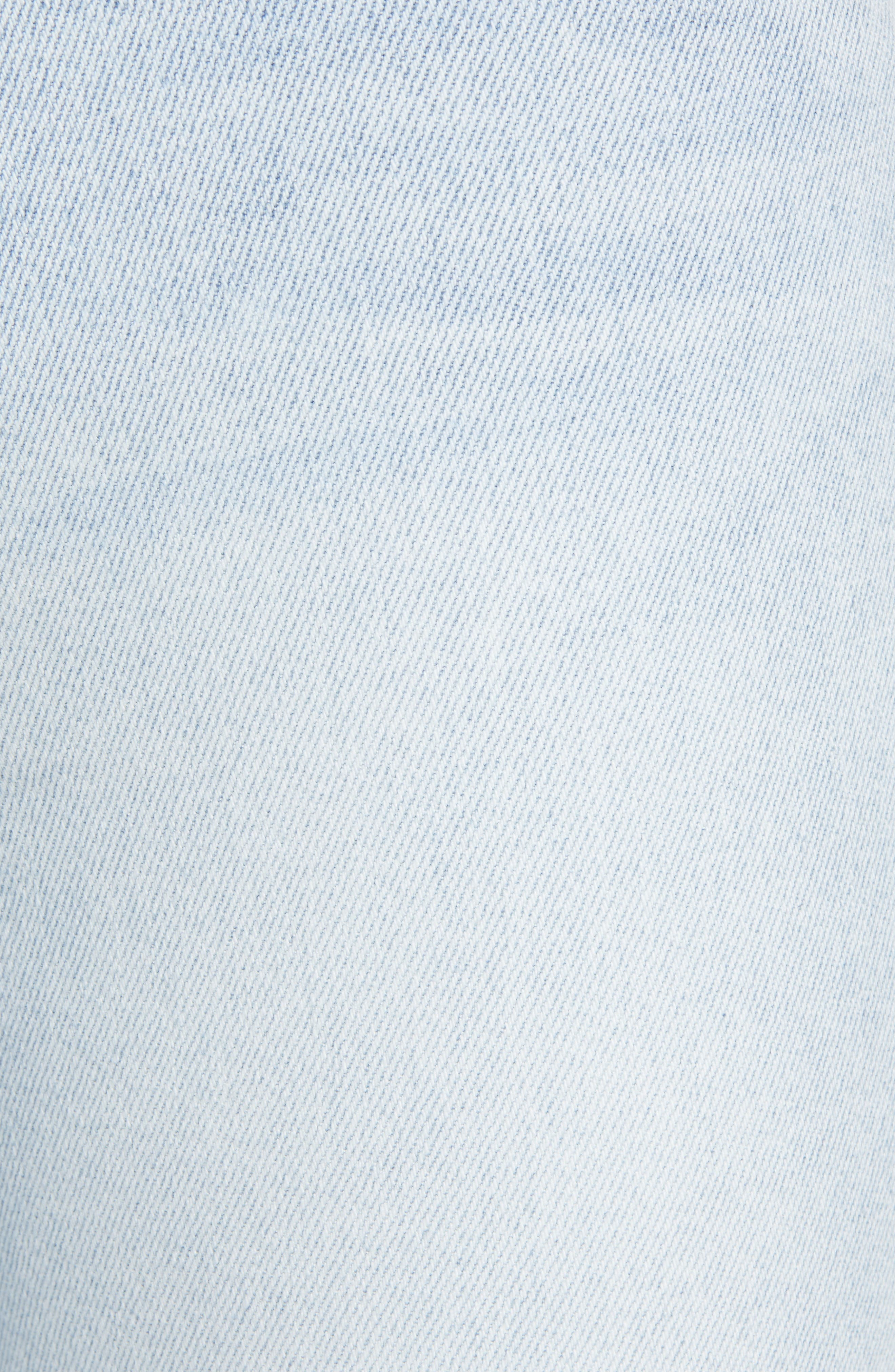 7 FOR ALL MANKIND<SUP>®</SUP>, Luxe Vintage High Waist Ankle Skinny Jeans, Alternate thumbnail 6, color, LUXE VINTAGE CLOUD