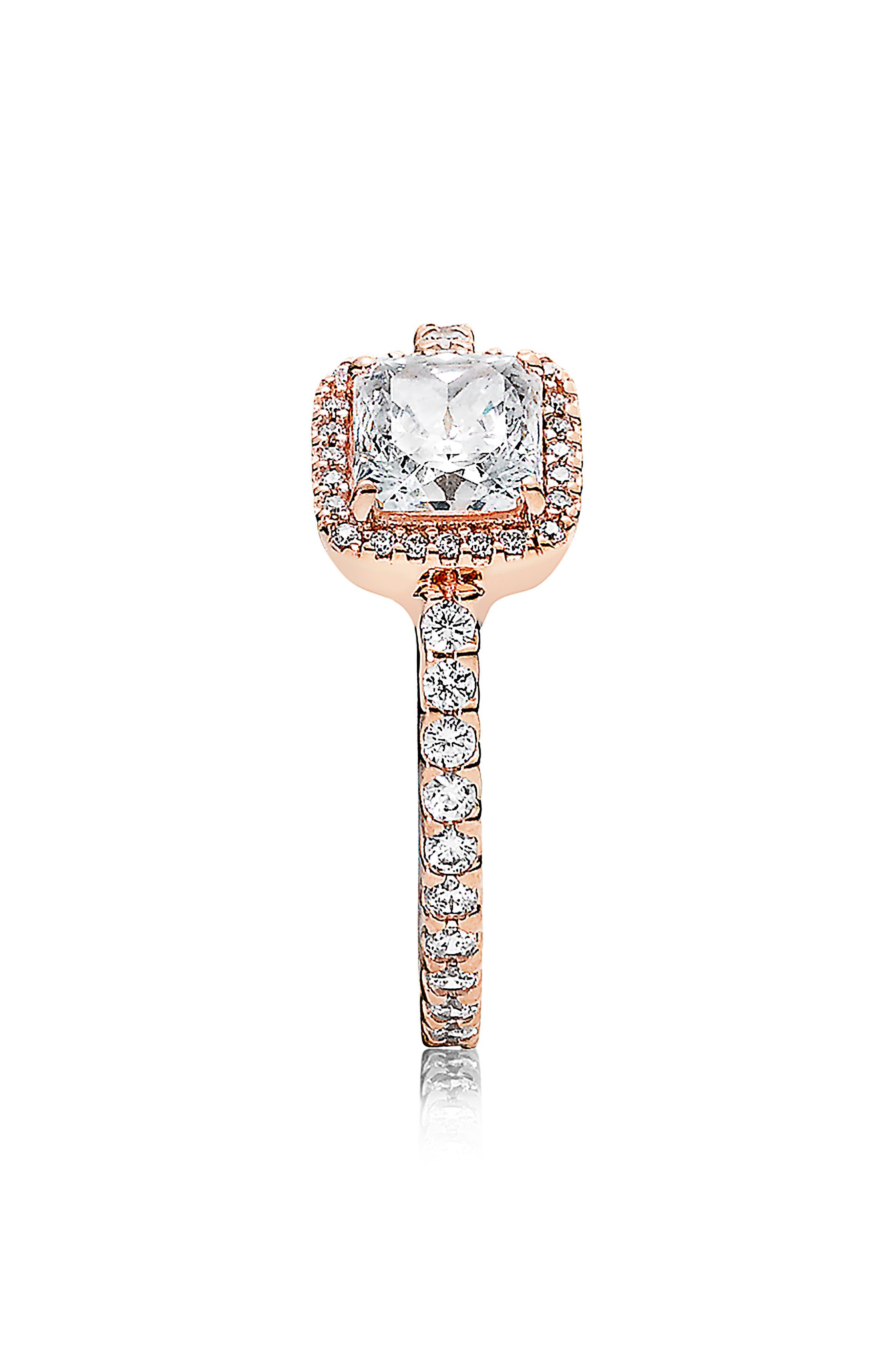 PANDORA, Timeless Elegance Ring, Alternate thumbnail 2, color, ROSE GOLD