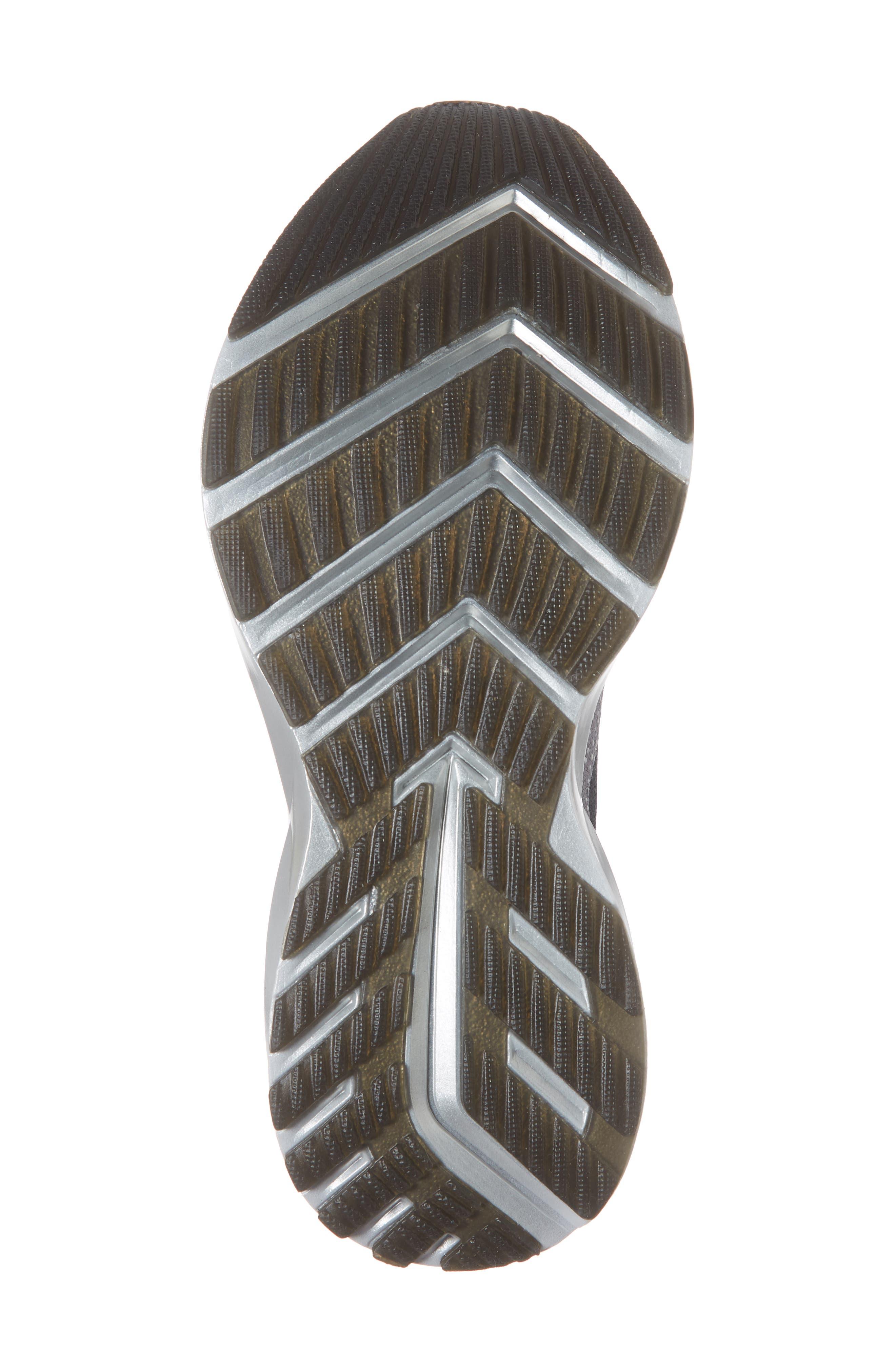 BROOKS, Levitate 2 Running Shoe, Alternate thumbnail 6, color, GREY/ EBONY/ WHITE
