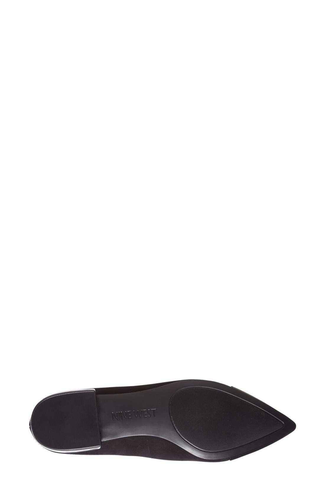 NINE WEST, 'Trainer' Cap Toe Loafer, Alternate thumbnail 4, color, 001