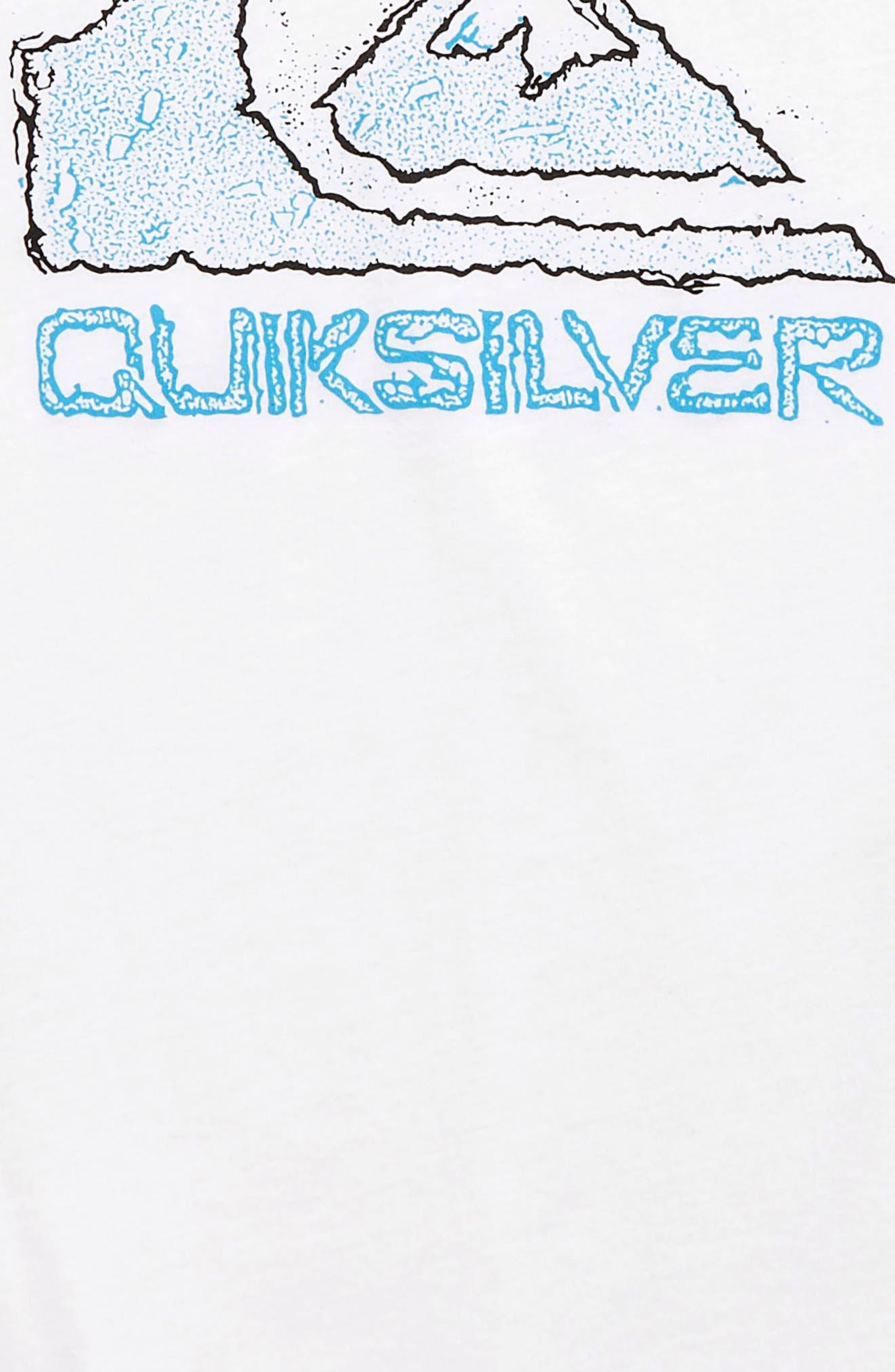 QUIKSILVER, Turbo Boost T-Shirt, Alternate thumbnail 2, color, WHITE