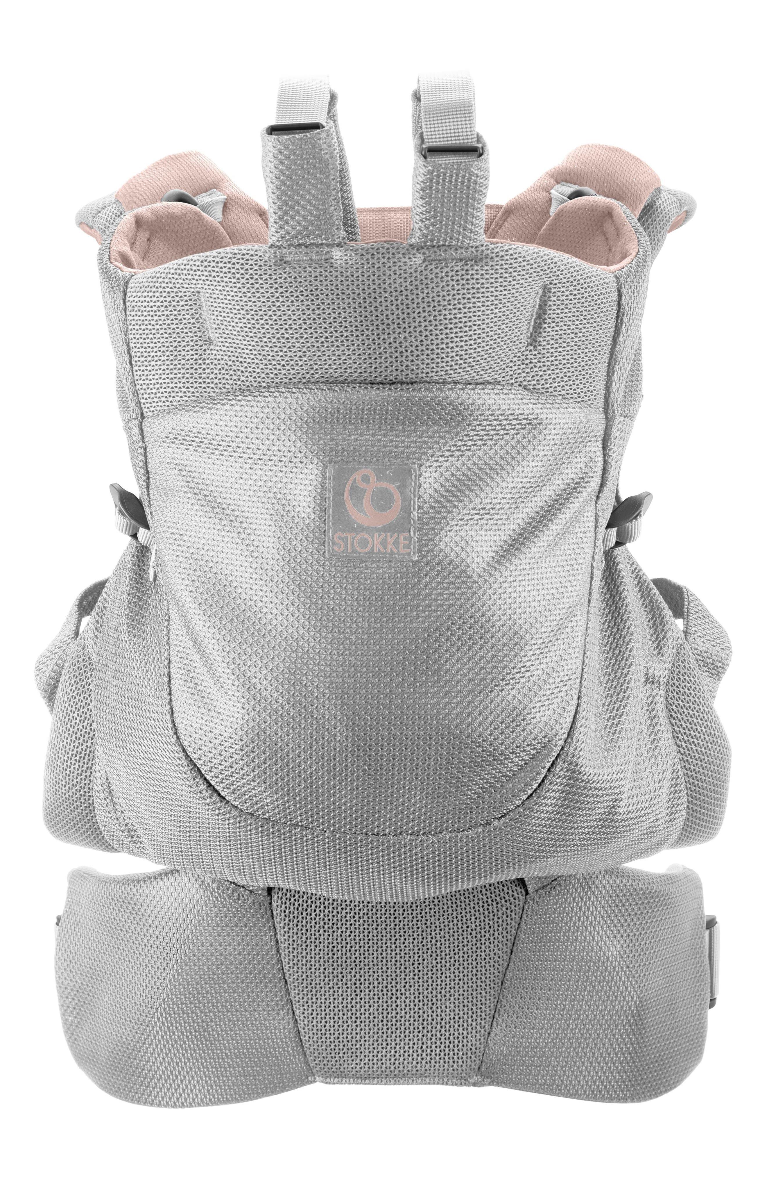 STOKKE, MyCarrier Front/Back Baby Carrier, Main thumbnail 1, color, PINK MESH