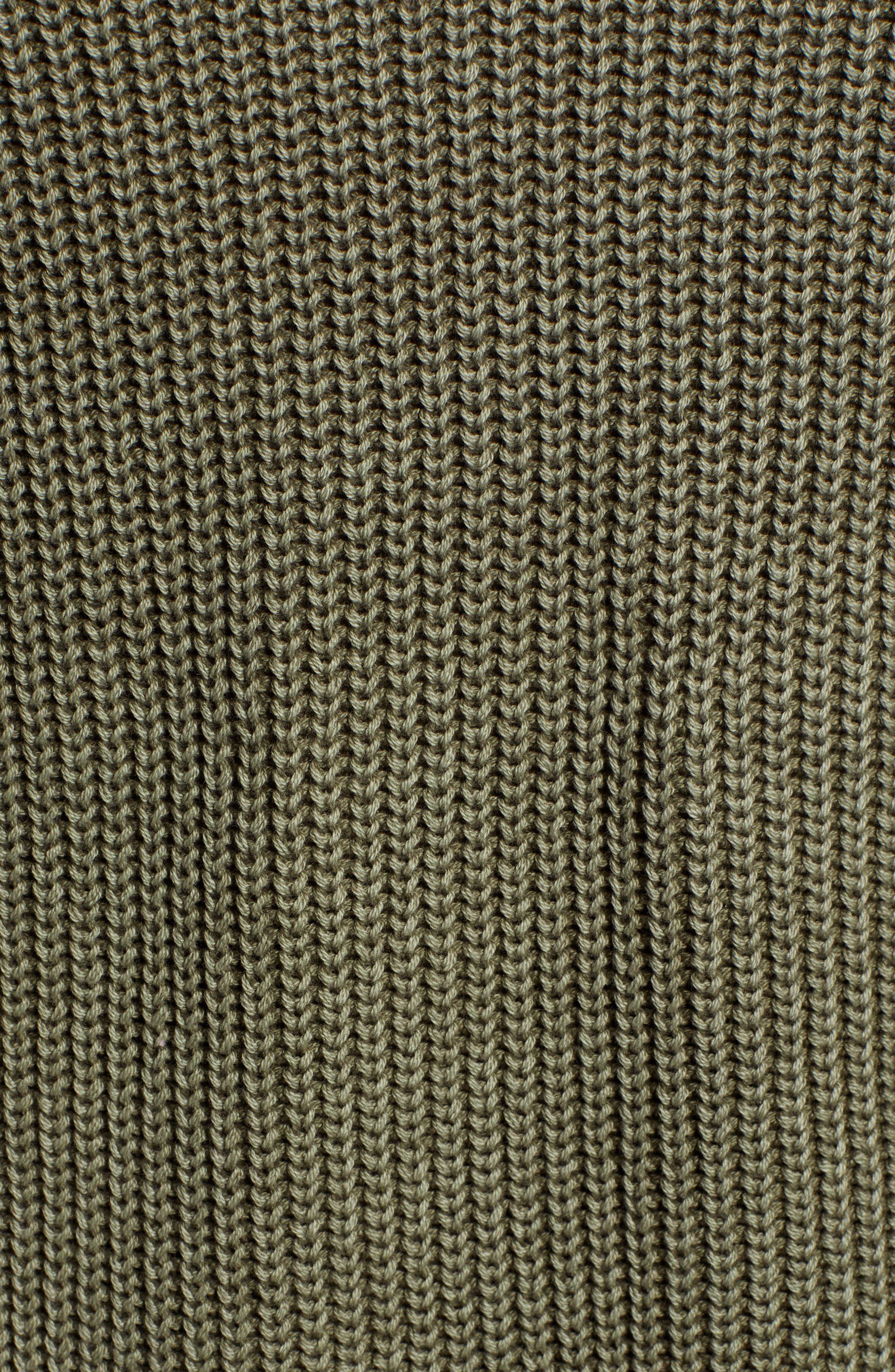 CASLON<SUP>®</SUP>, Tie Back Tunic Sweater, Alternate thumbnail 5, color, OLIVE SARMA