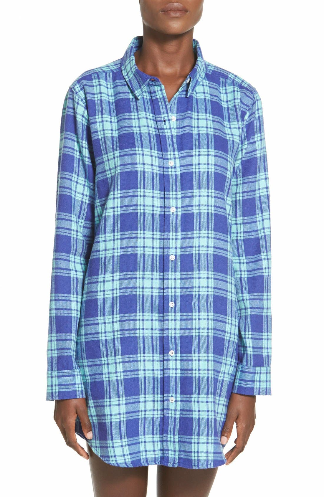 BP. UNDERCOVER, Flannel Night Shirt, Main thumbnail 1, color, 440