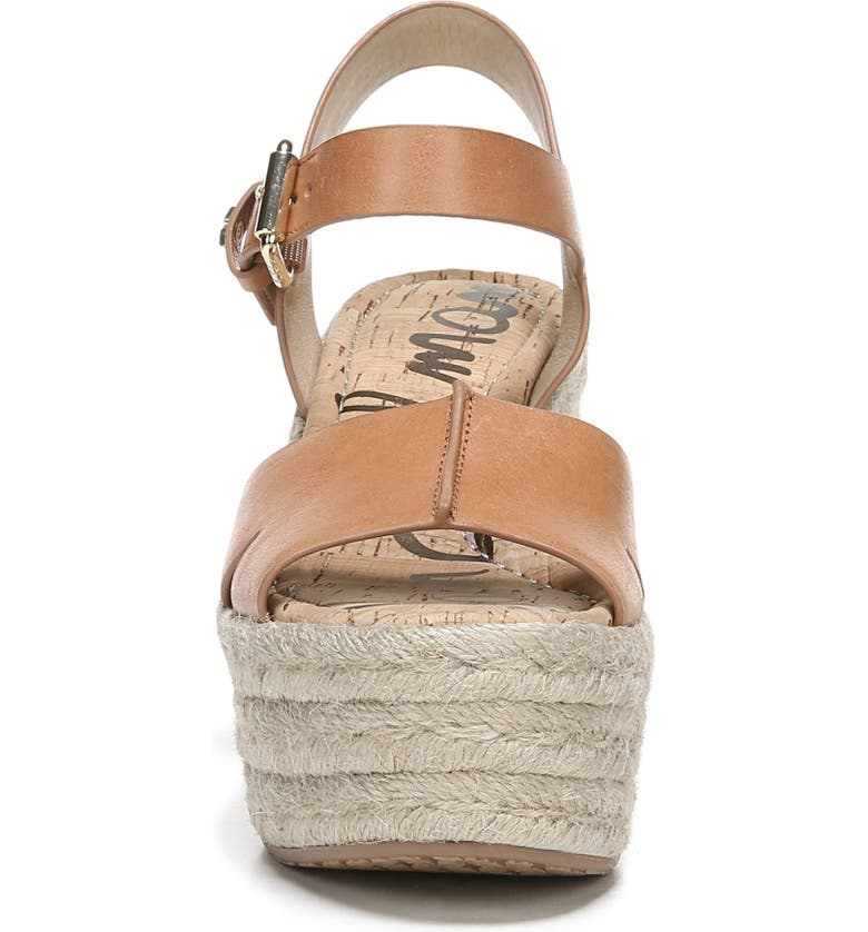 7dba00eca35 Sam Edelman Maura Leather Platform Espadrille Sandals In Natural Buff