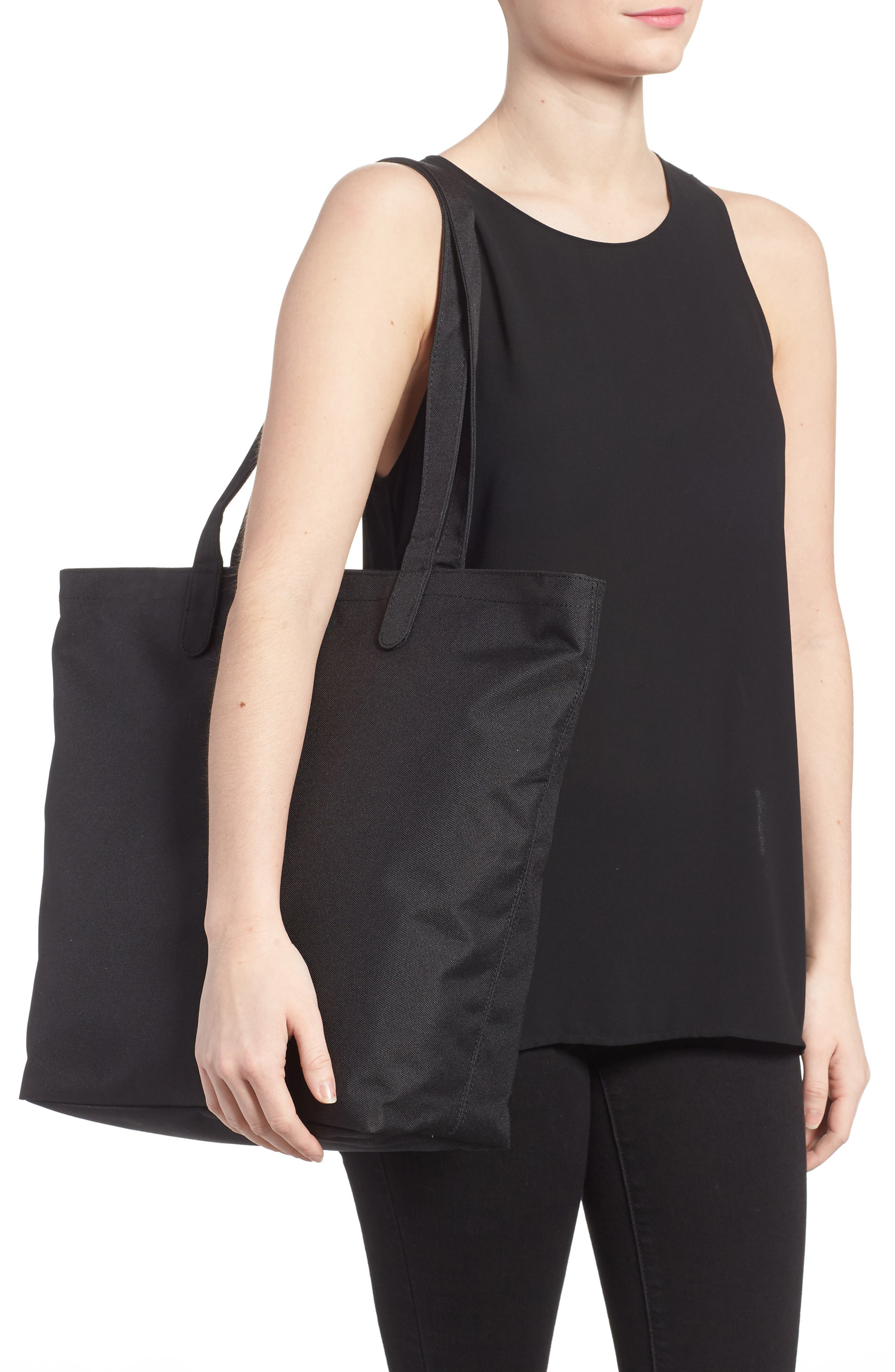 HERSCHEL SUPPLY CO., Mica Canvas Tote, Alternate thumbnail 2, color, BLACK