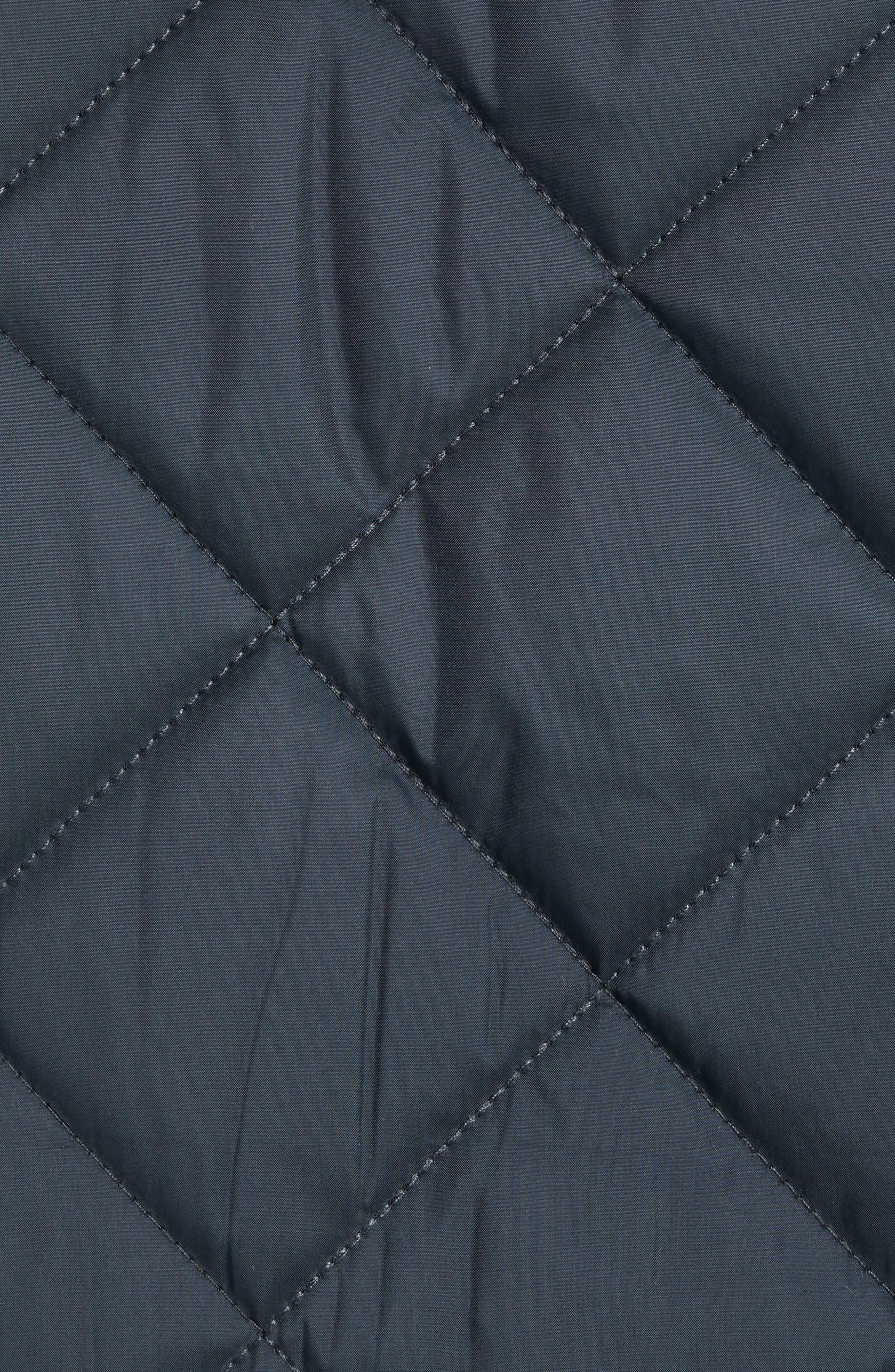 MARC NEW YORK, Humboldt Quilted Jacket, Alternate thumbnail 7, color, BLACK