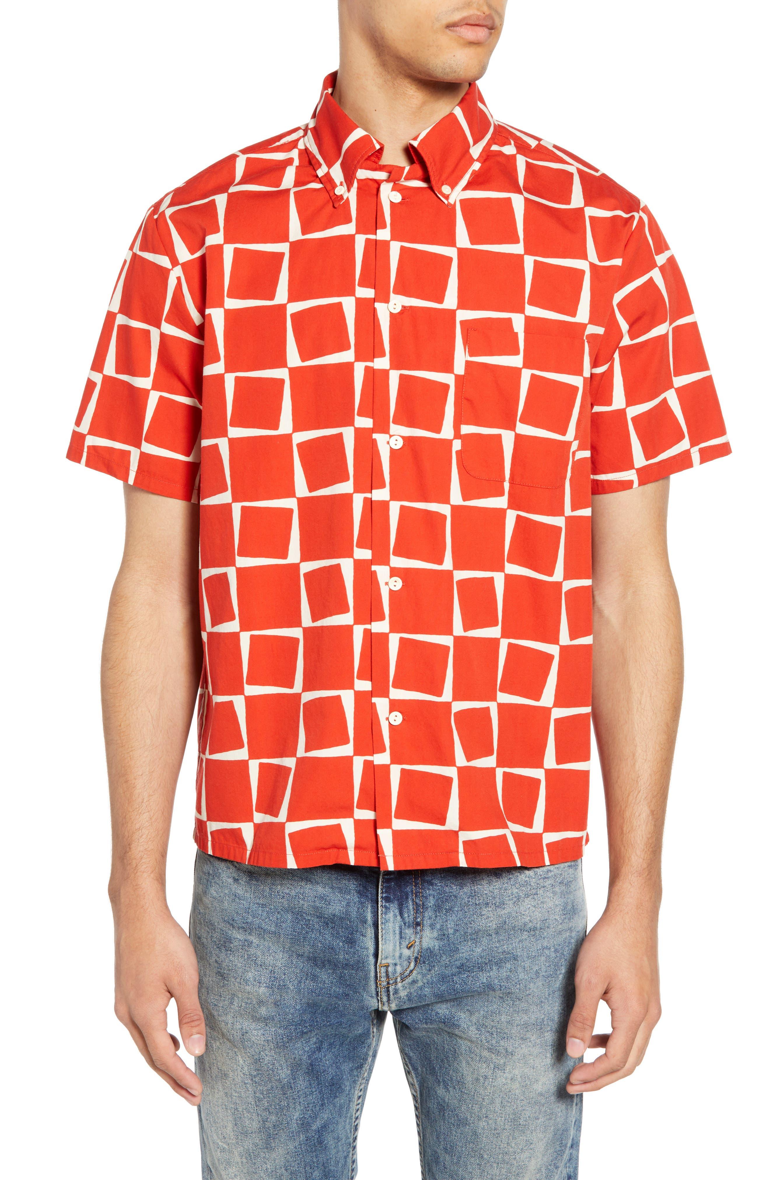 LEVI'S<SUP>®</SUP> VINTAGE CLOTHING, 1950s Regular Atomic Square Woven Shirt, Main thumbnail 1, color, 600