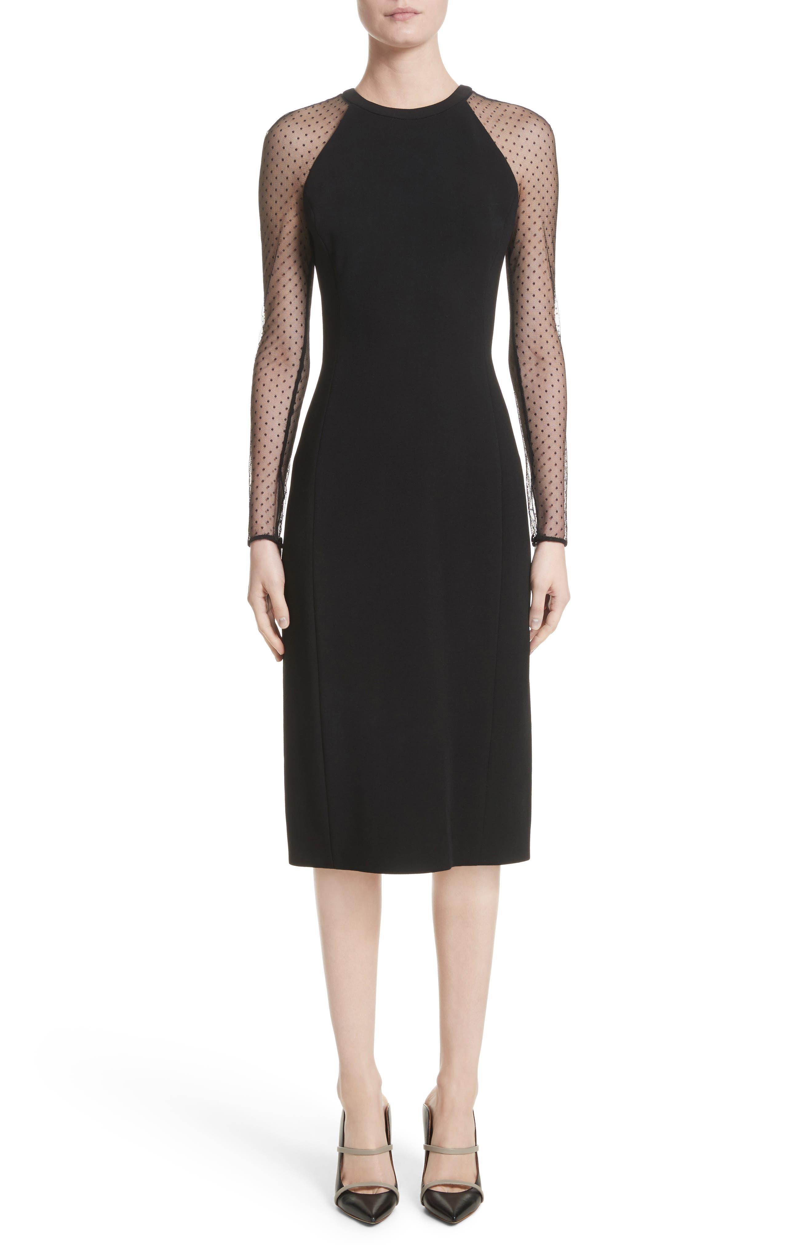 Jason Wu Collection Swiss Dot Sleeve Dress, Black