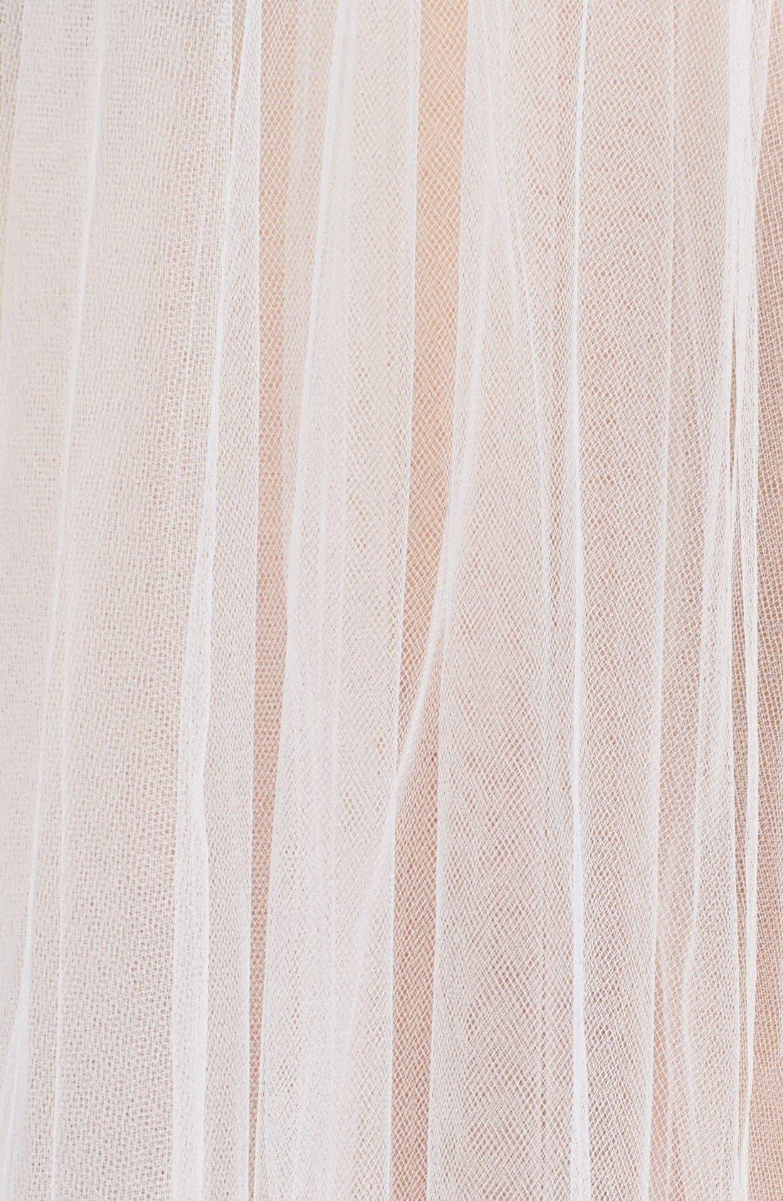 WEDDING BELLES NEW YORK, 'Ellen' Veil, Alternate thumbnail 2, color, IVORY