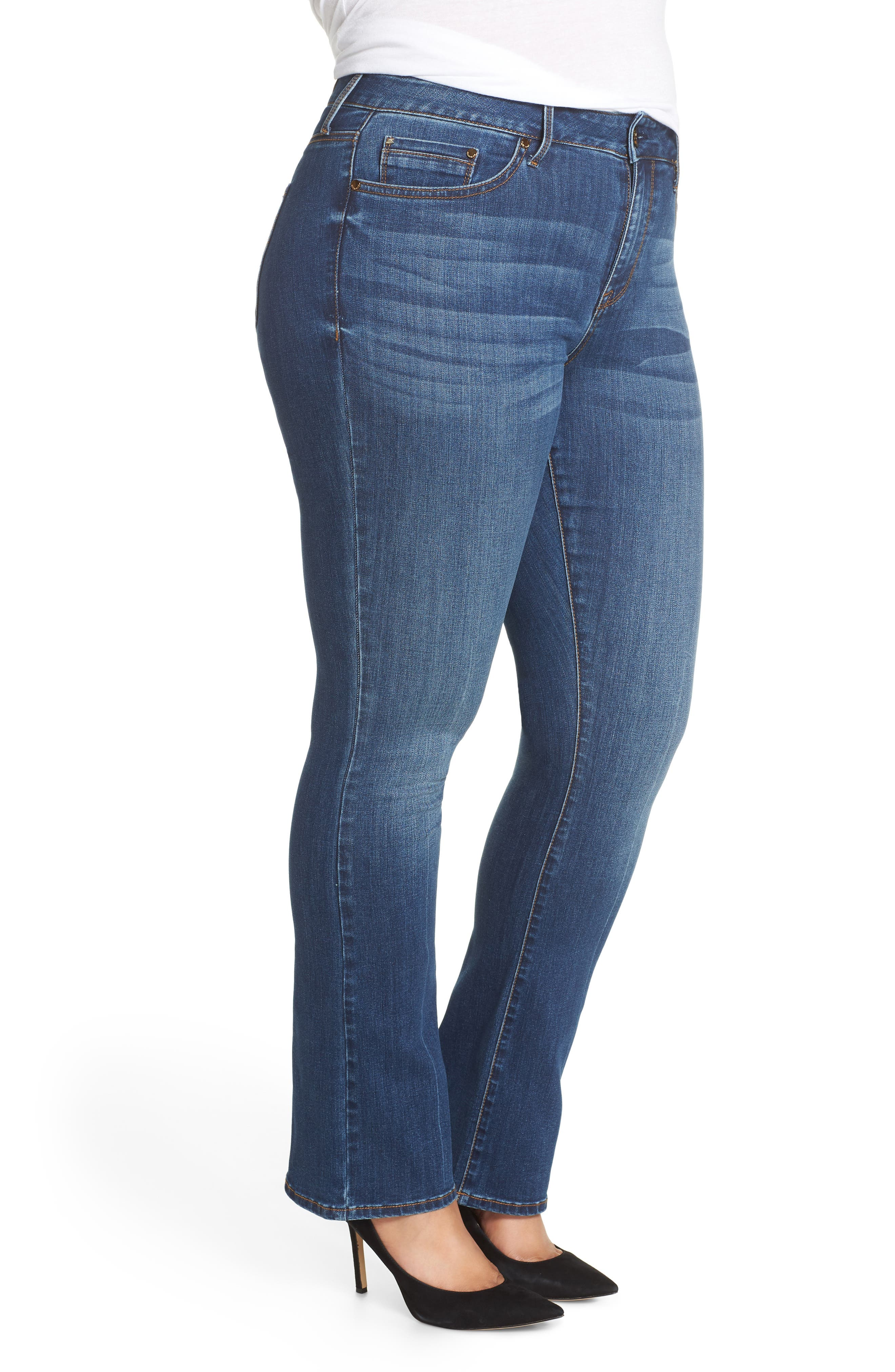 SEVEN7, Mid Rise Micro Bootcut Jeans, Alternate thumbnail 4, color, GENERATION