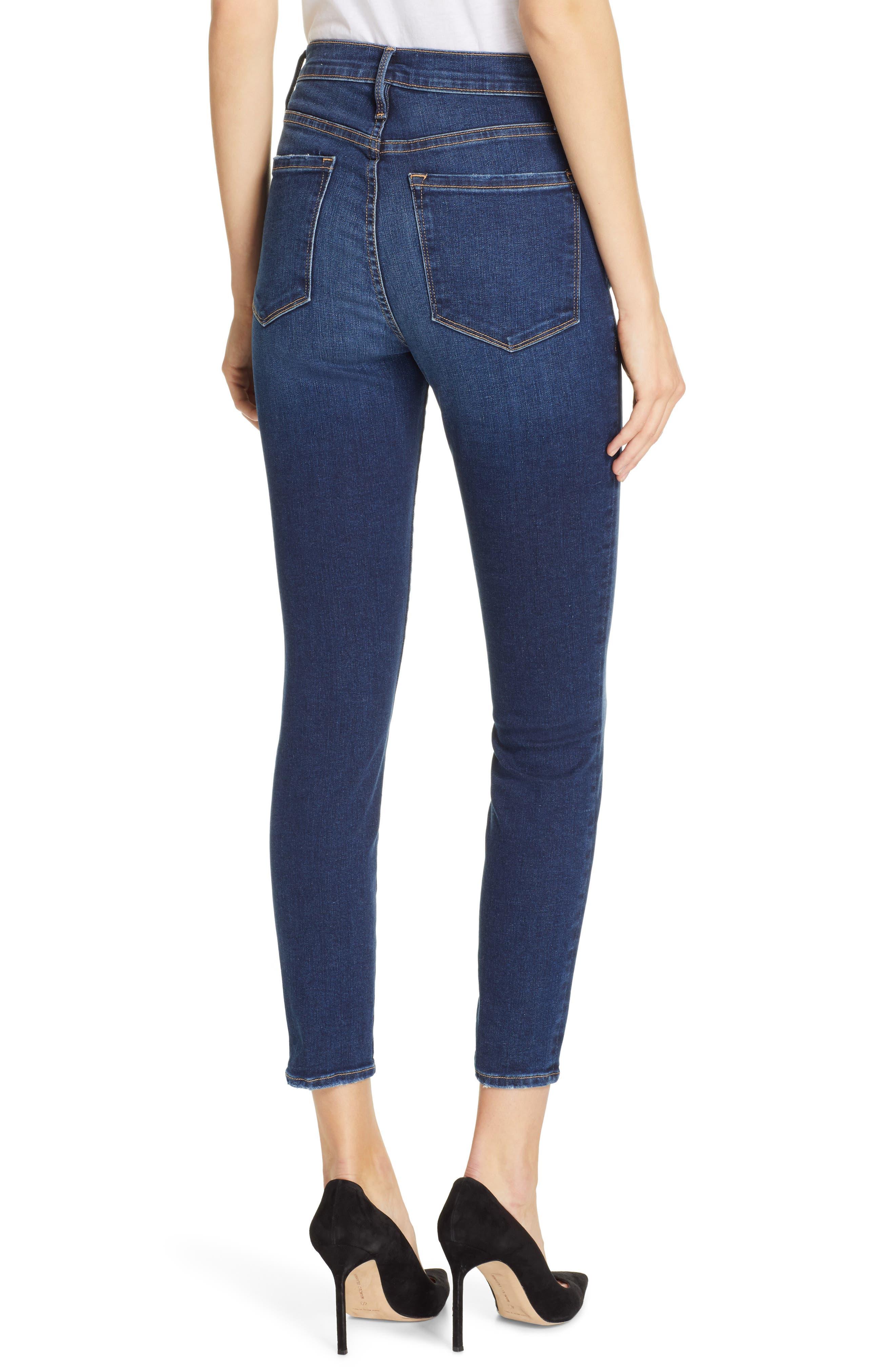 FRAME, Ali High Waist Crop Cigarette Skinny Jeans, Alternate thumbnail 2, color, MANO