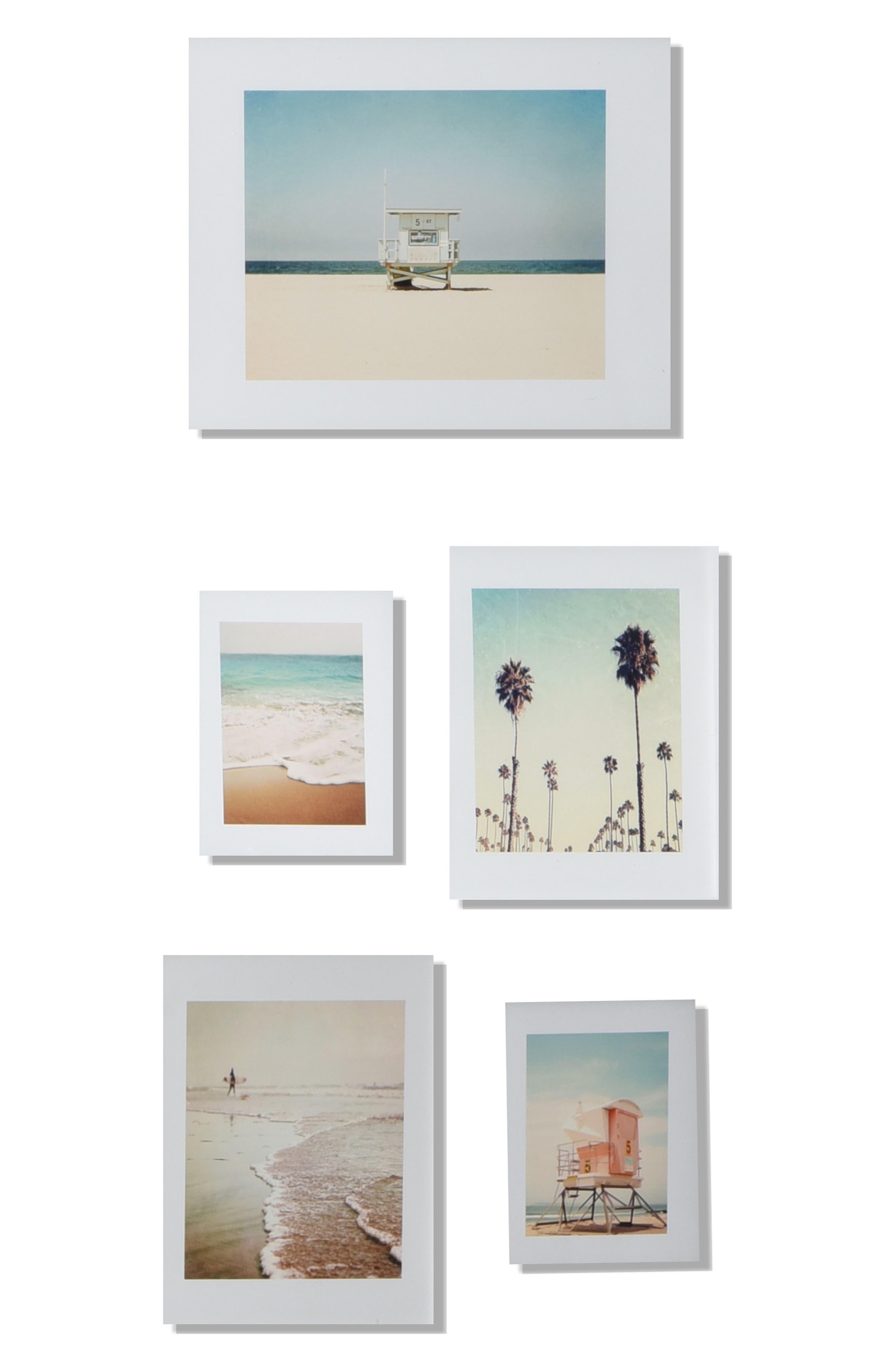 DENY DESIGNS, '5th Street' Wall Art Print Set, Alternate thumbnail 4, color, WHITE
