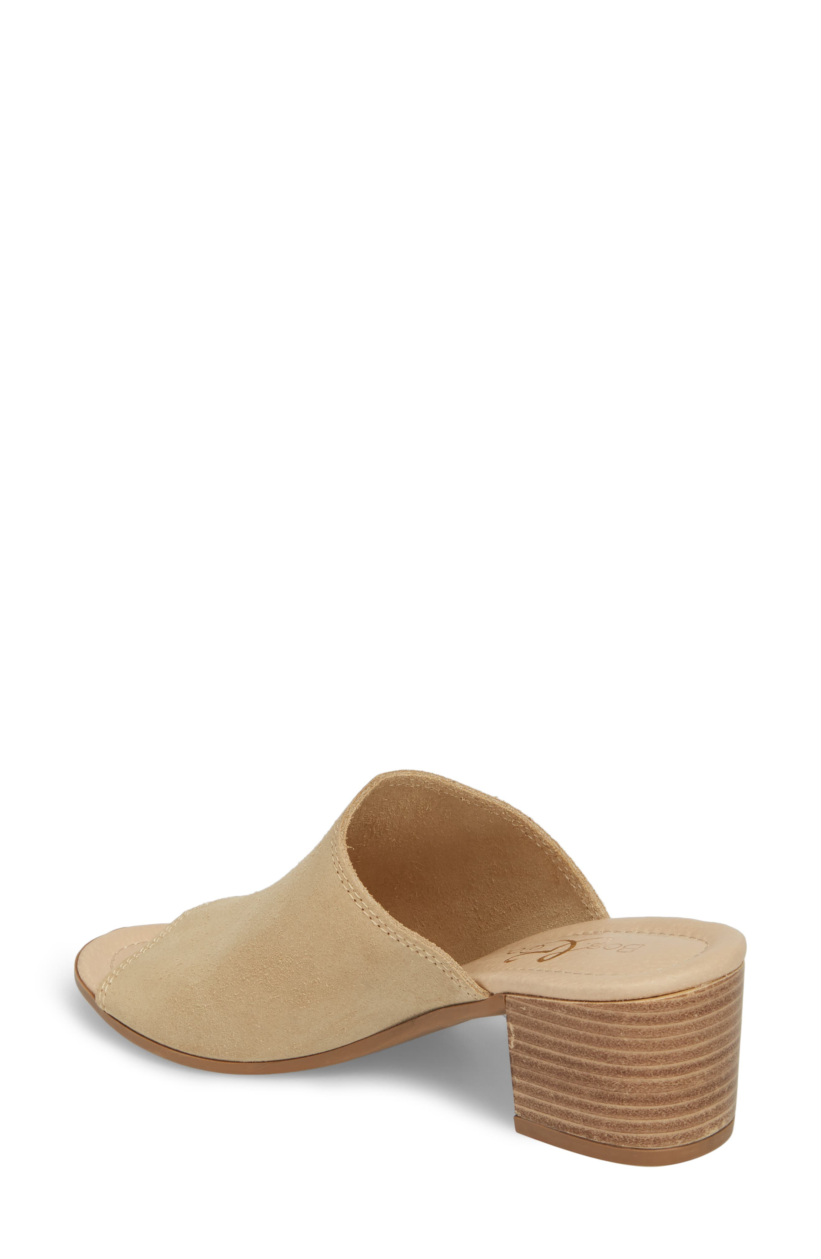 BOS. & CO., Fawn Mule, Alternate thumbnail 2, color, SAND CROSTA LEATHER