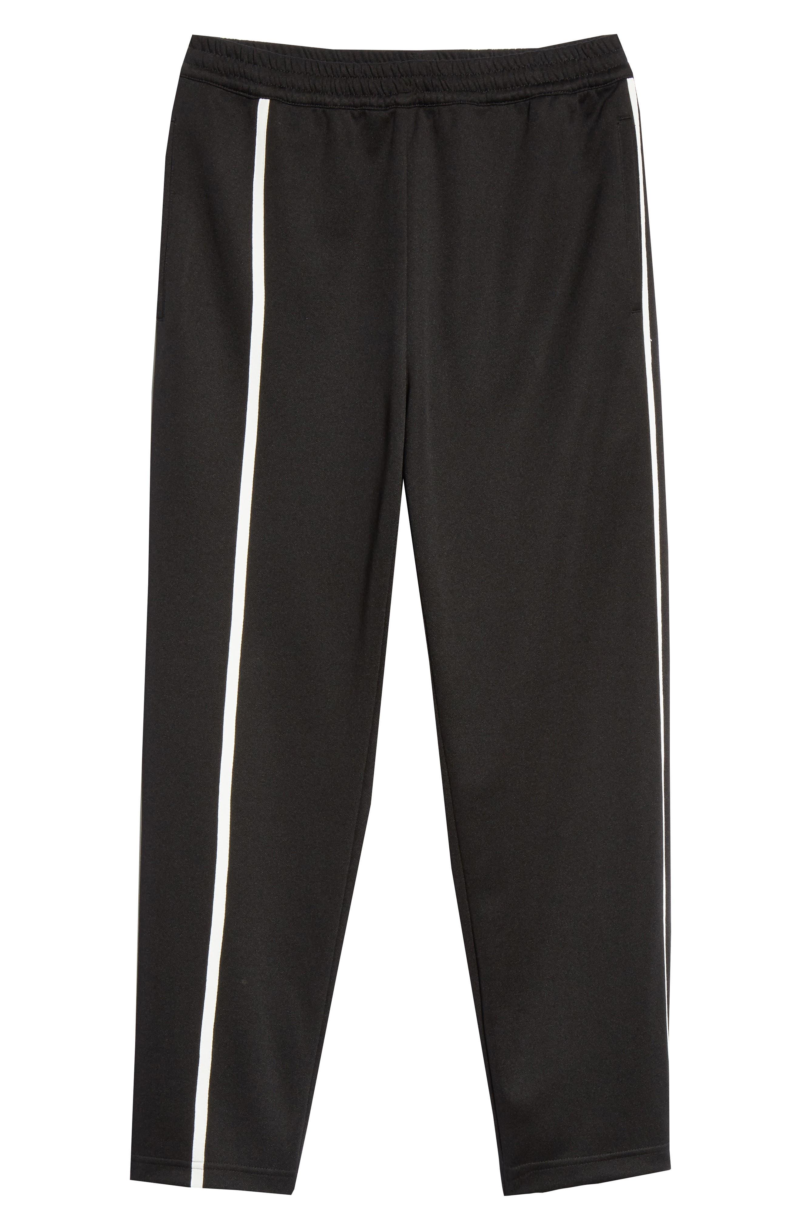 HELMUT LANG, Sport Stripe Sweatpants, Alternate thumbnail 6, color, BLACK AND WHITE