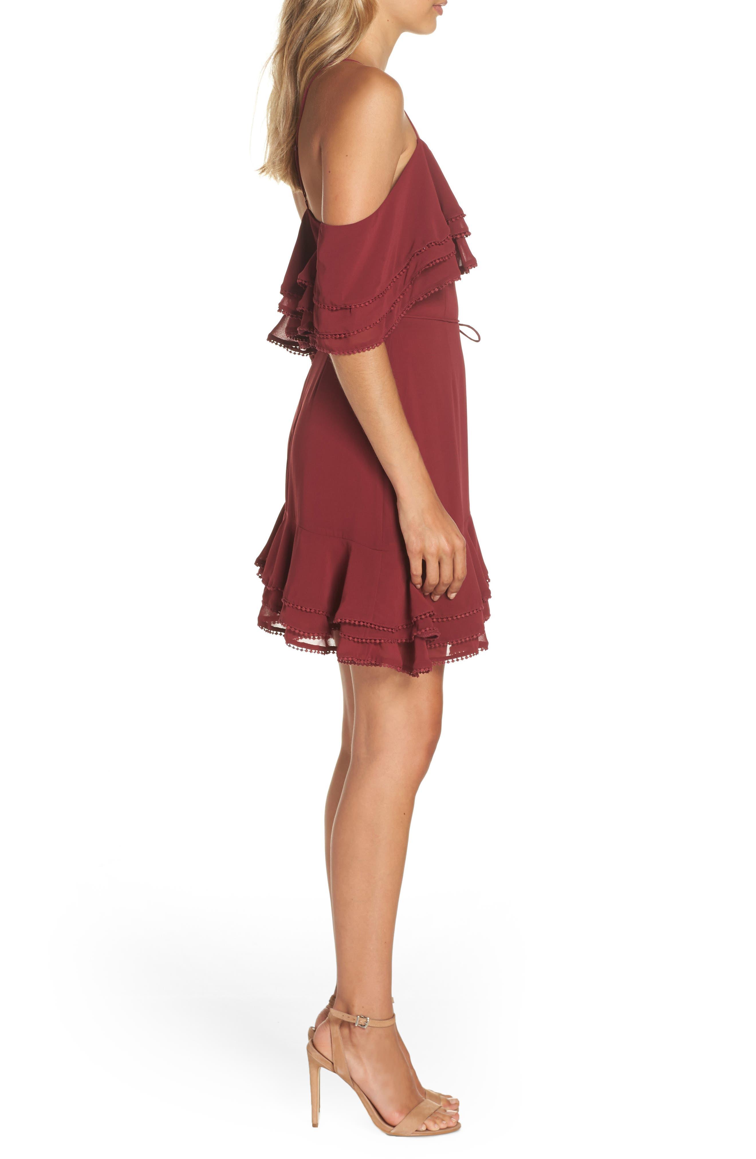 BB DAKOTA, Up All Night Layered Cold Shoulder Dress, Alternate thumbnail 4, color, 930