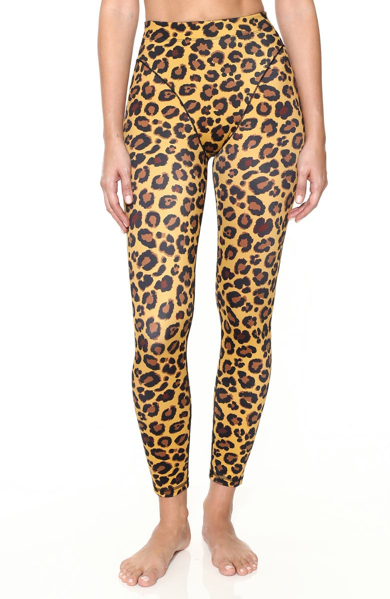 Adam Selman FRENCH CUT LEOPARD LEGGINGS