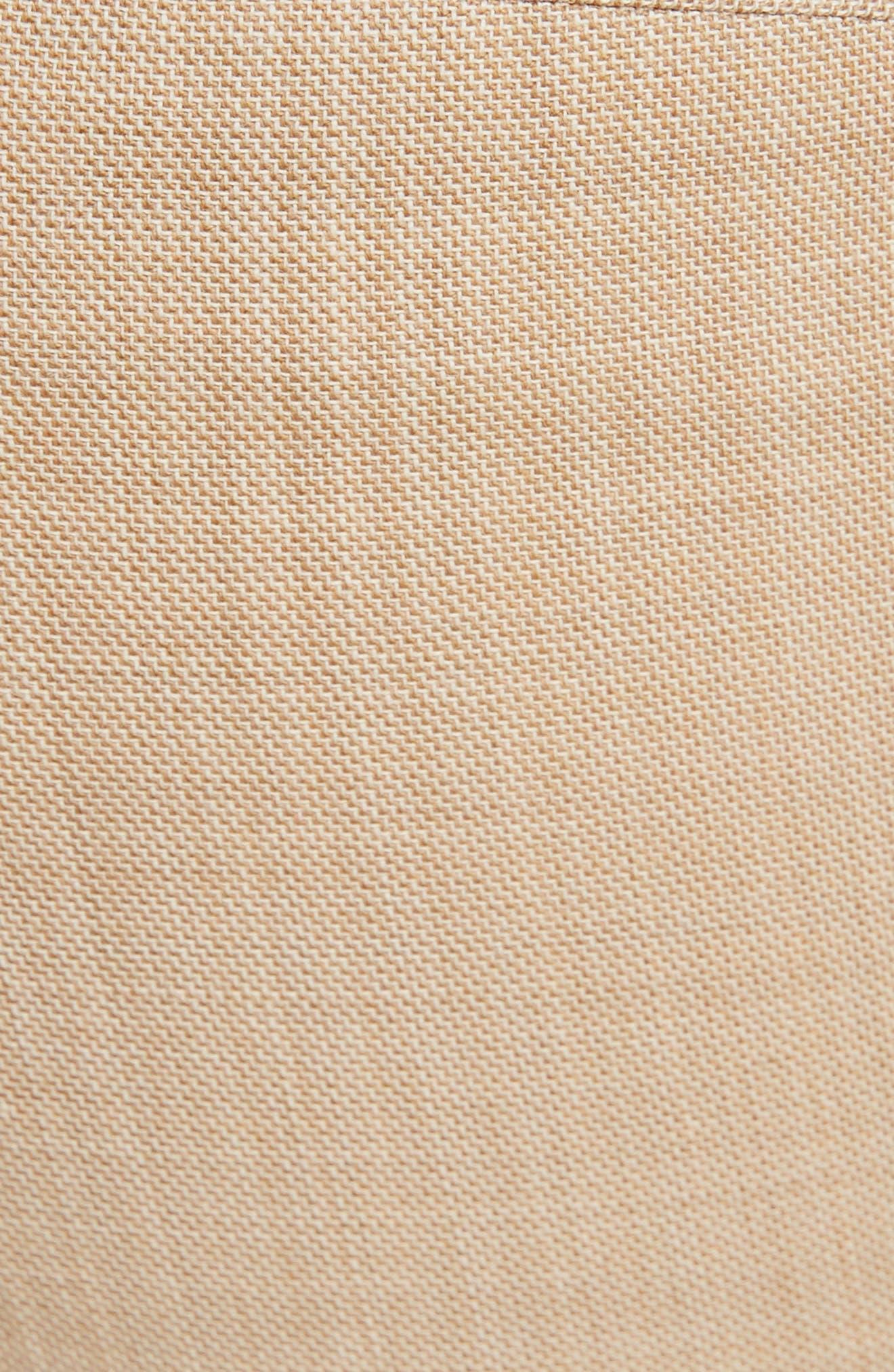 VICTORIA BECKHAM, High Waist Flare Wool Pants, Alternate thumbnail 5, color, LIGHT BEIGE-WHITE