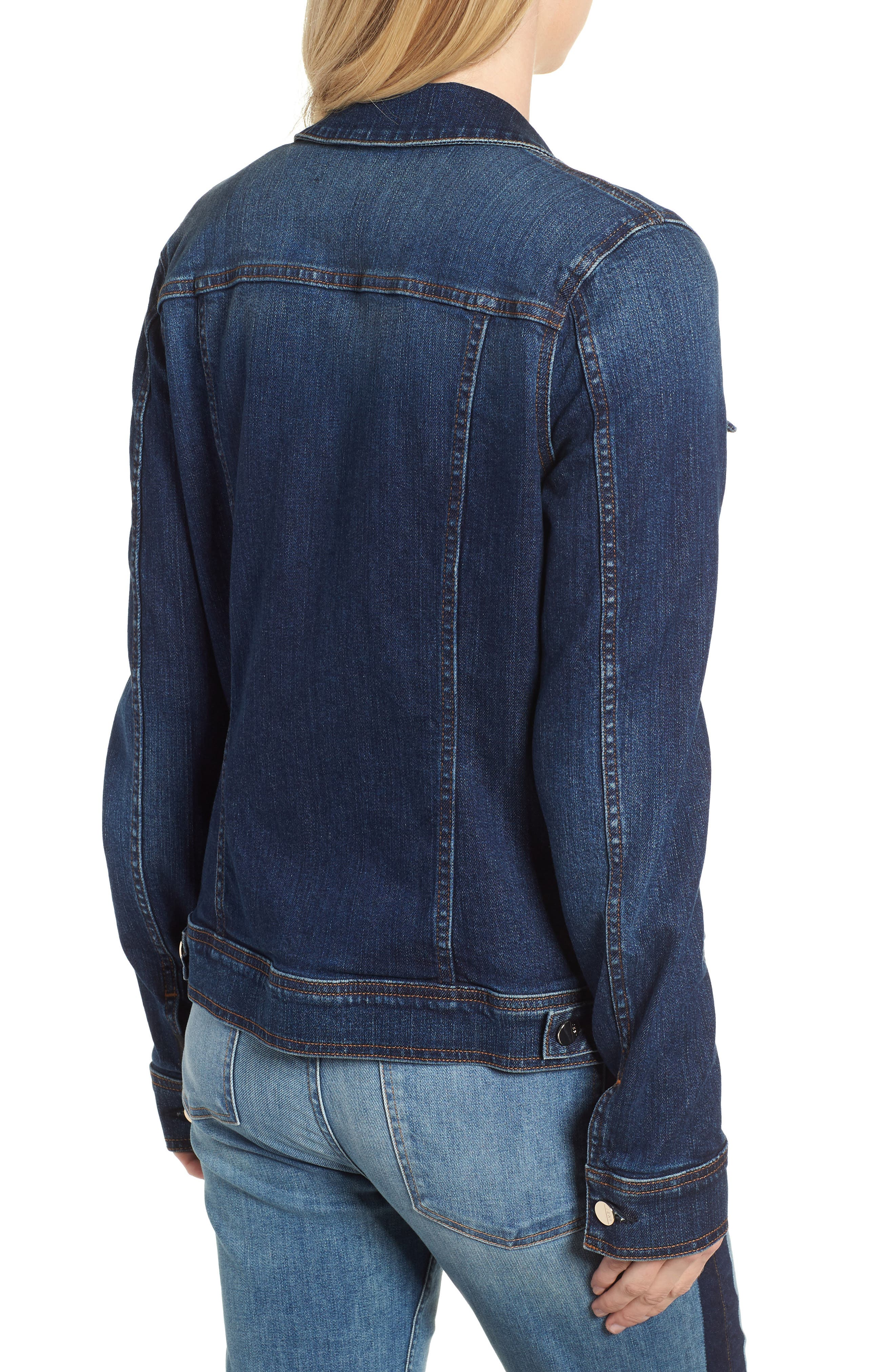 JEN7 BY 7 FOR ALL MANKIND, Classic Denim Jacket, Alternate thumbnail 2, color, 403