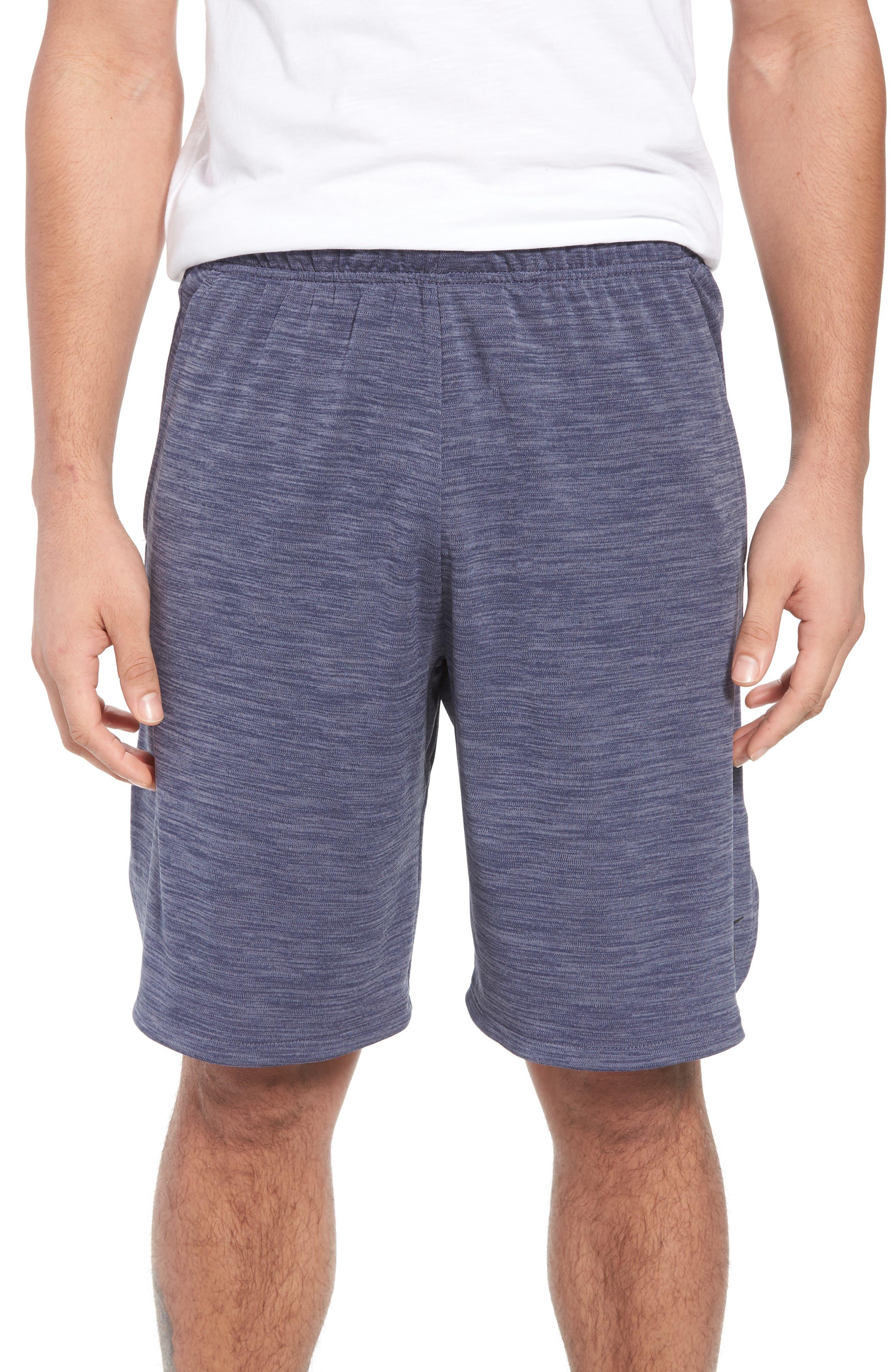 NIKE, Dry Training Shorts, Main thumbnail 1, color, LIGHT CARBON/ BLACK