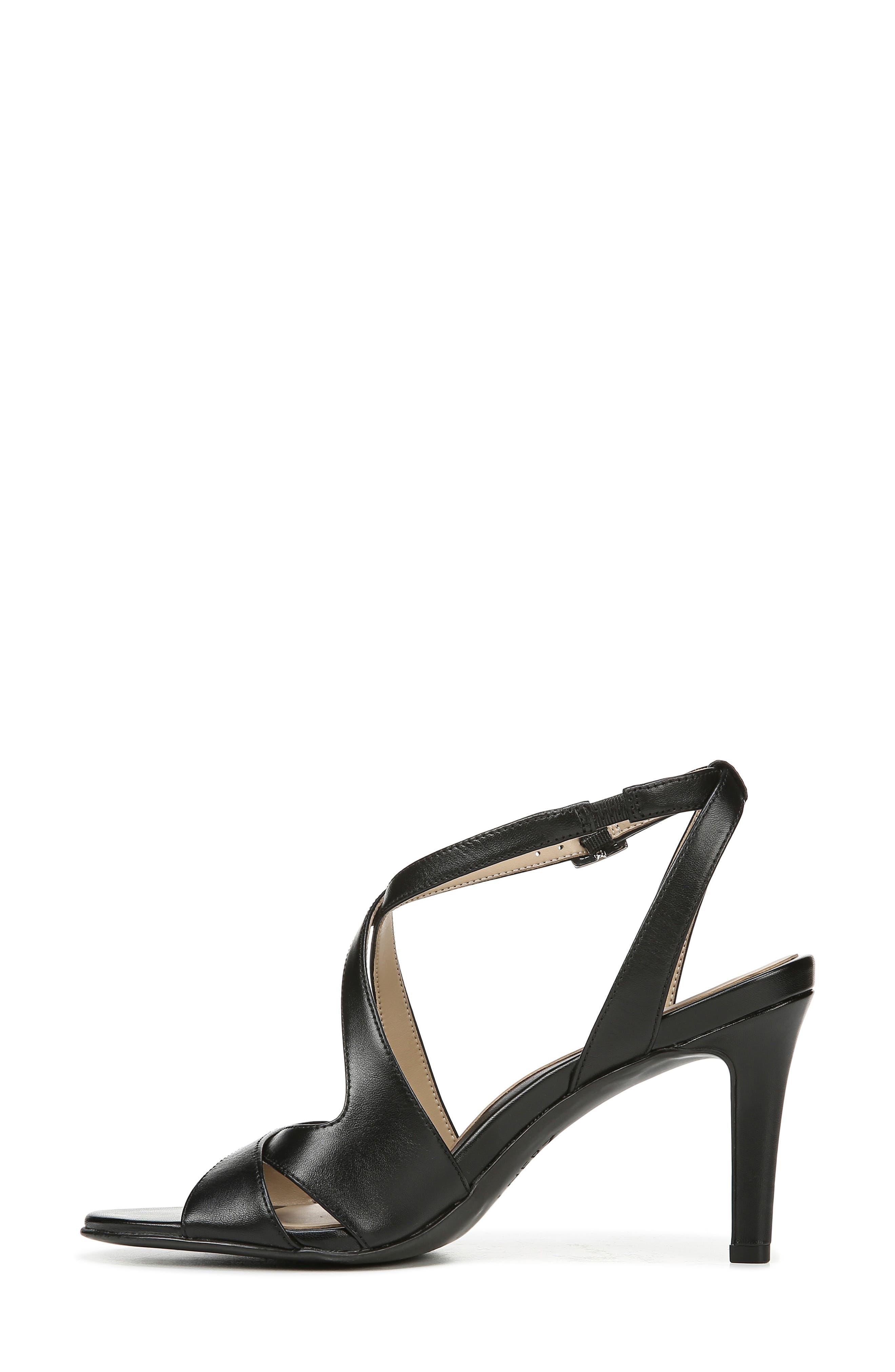 NATURALIZER, Klein Strappy Sandal, Alternate thumbnail 9, color, BLACK LEATHER