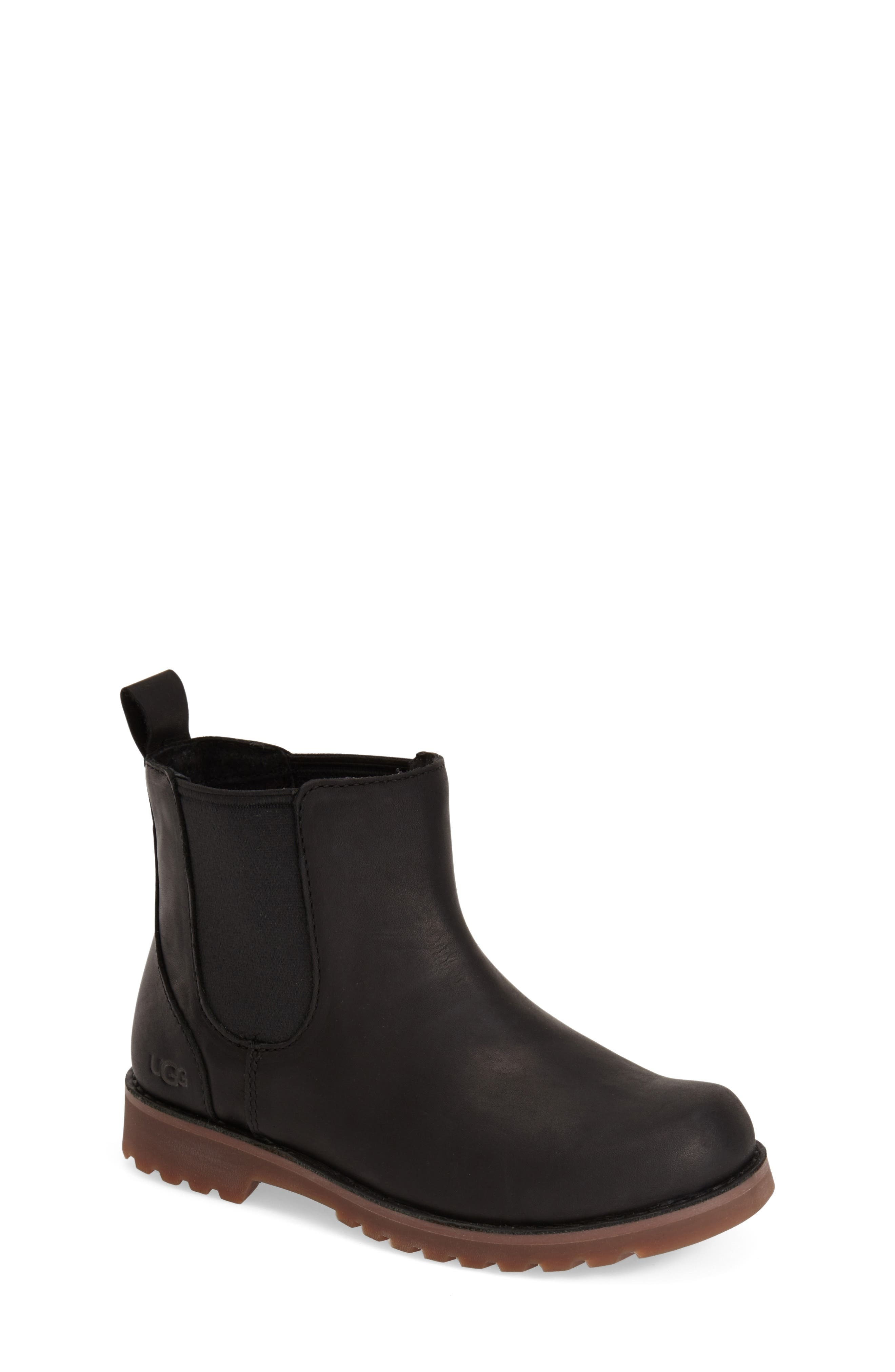 UGG<SUP>®</SUP>, Callum Water Resistant Chelsea Boot, Alternate thumbnail 4, color, BLACK/ BLACK