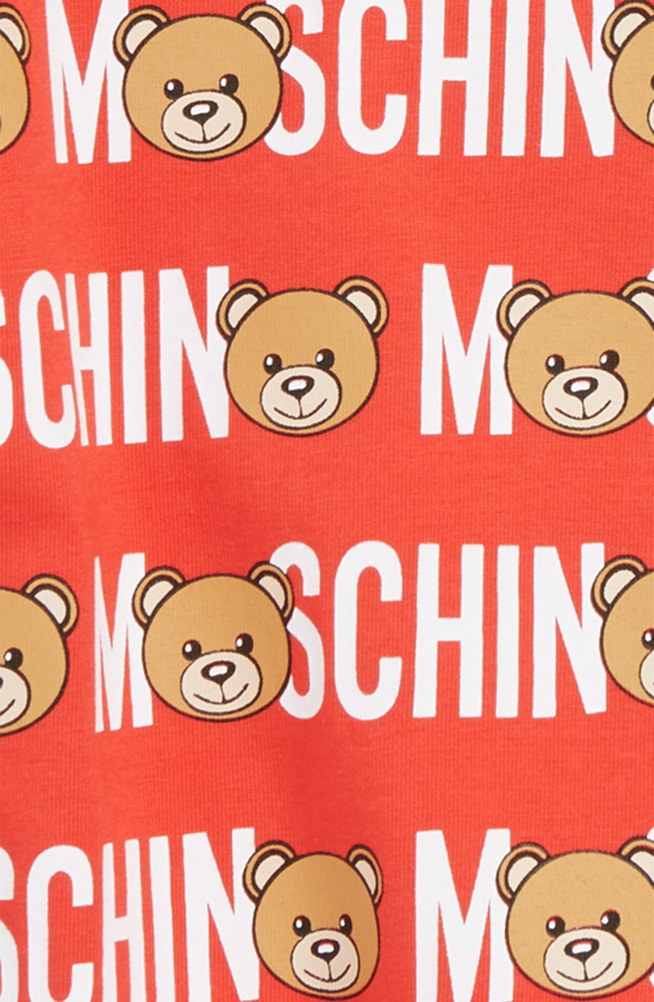 MOSCHINO, Teddy Bear Logo Print Tee, Alternate thumbnail 2, color, 84005 RED