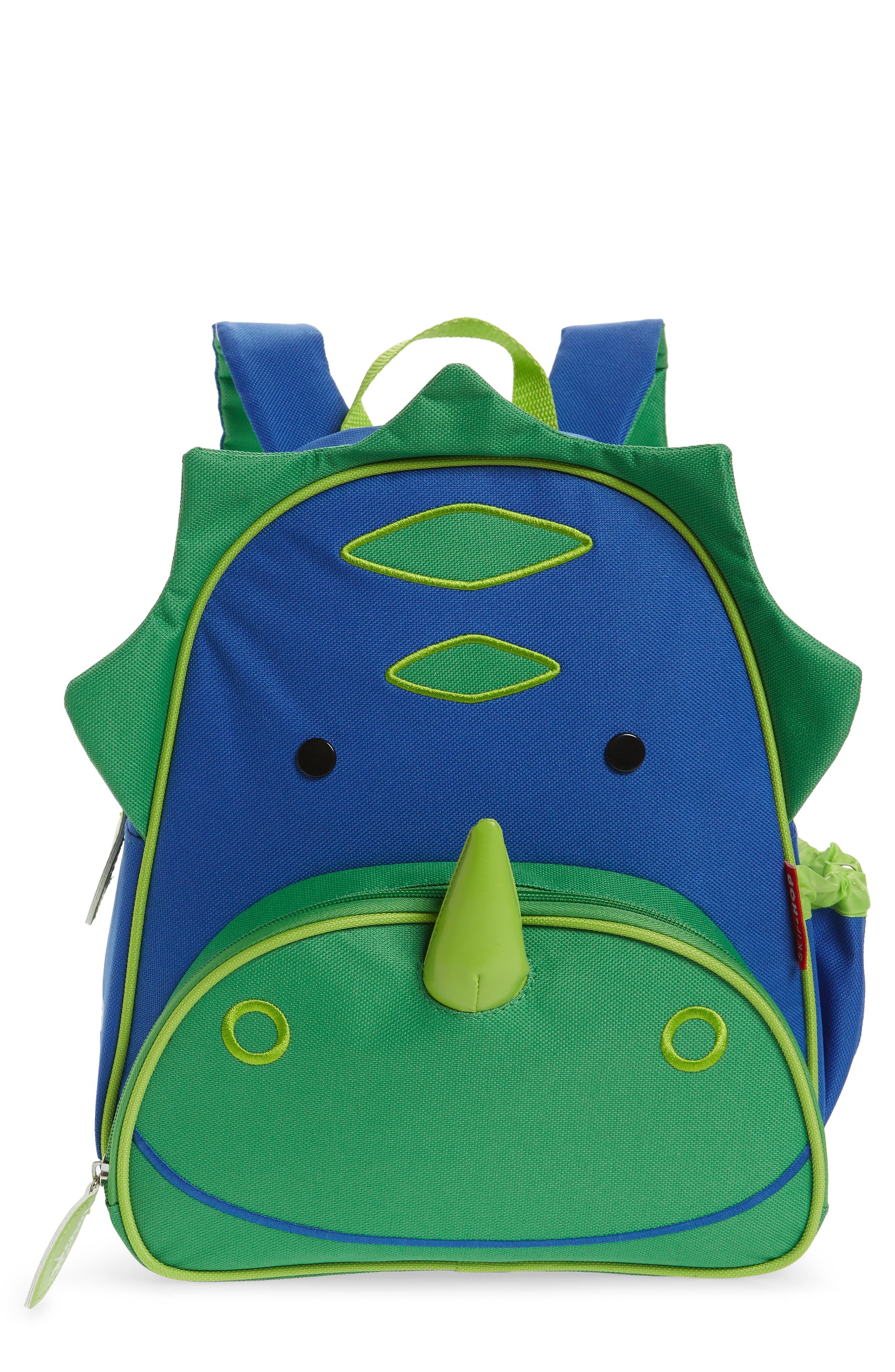 SKIP HOP, Zoo Pack Backpack, Main thumbnail 1, color, GREEN/ BLUE