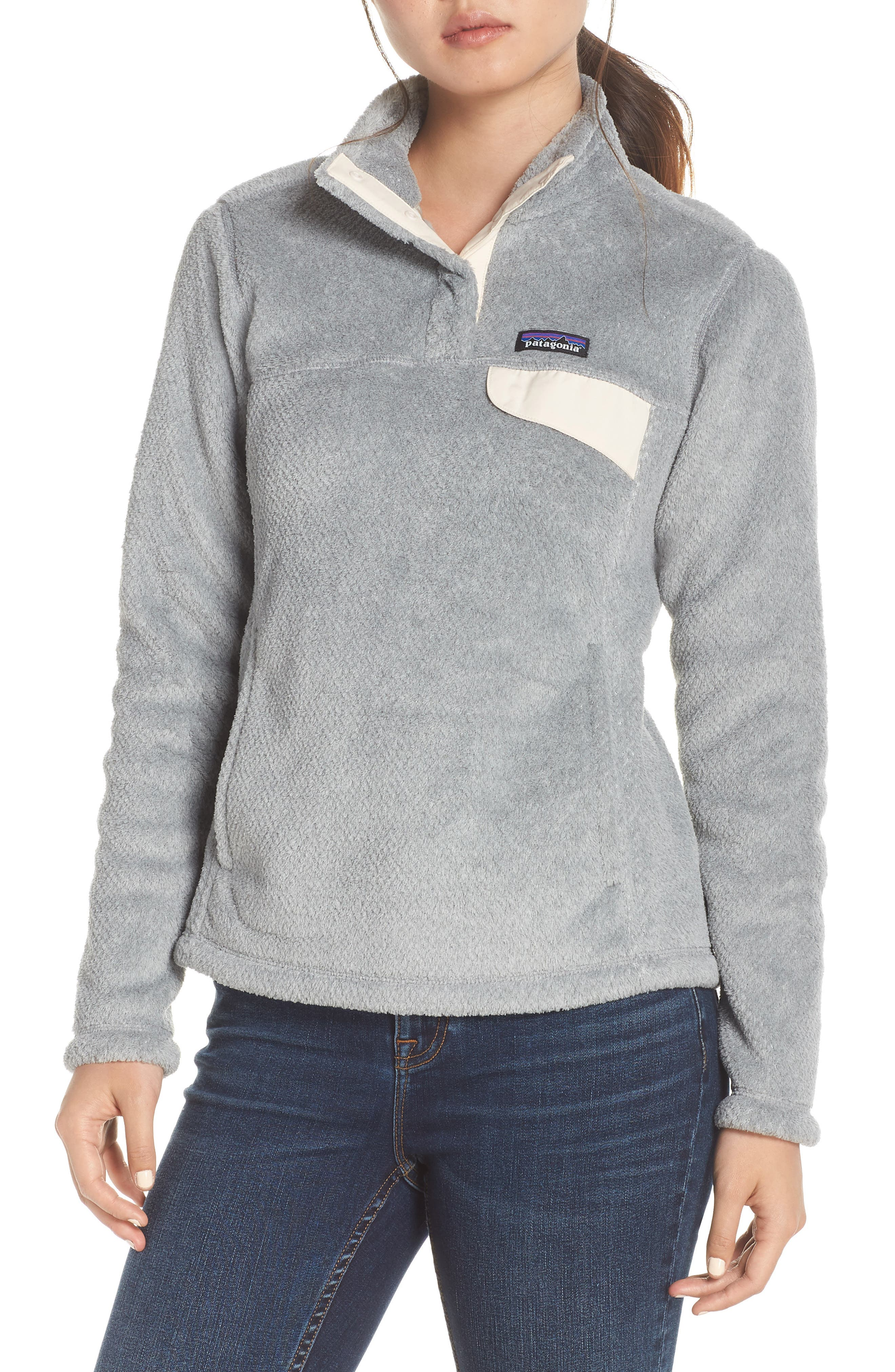 PATAGONIA Re-Tool Snap-T<sup>®</sup> Fleece Pullover, Main, color, TAILORED GREY
