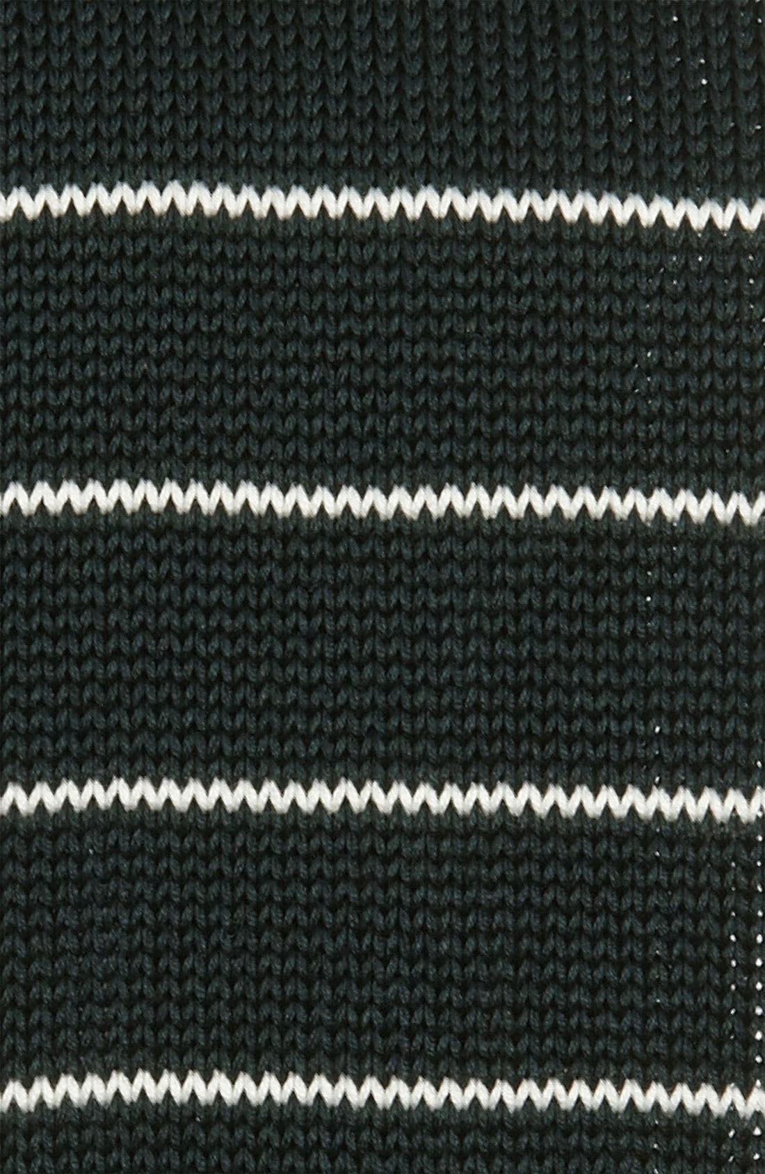 BOSS, HUGO BOSS Cotton Knit Tie, Alternate thumbnail 2, color, 301