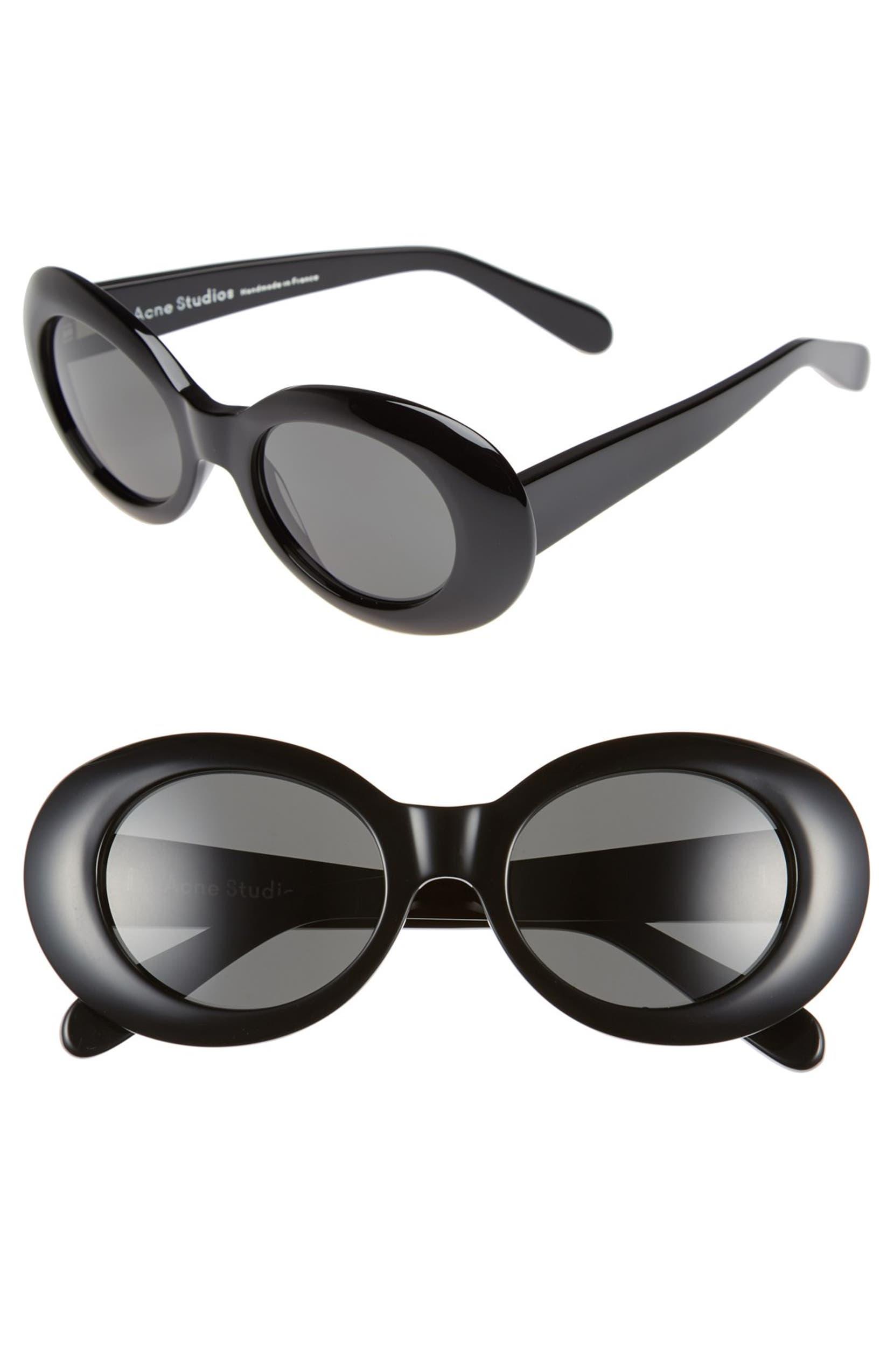 12ba0205f54a Acne Studios Mustang 49mm Oval Sunglasses