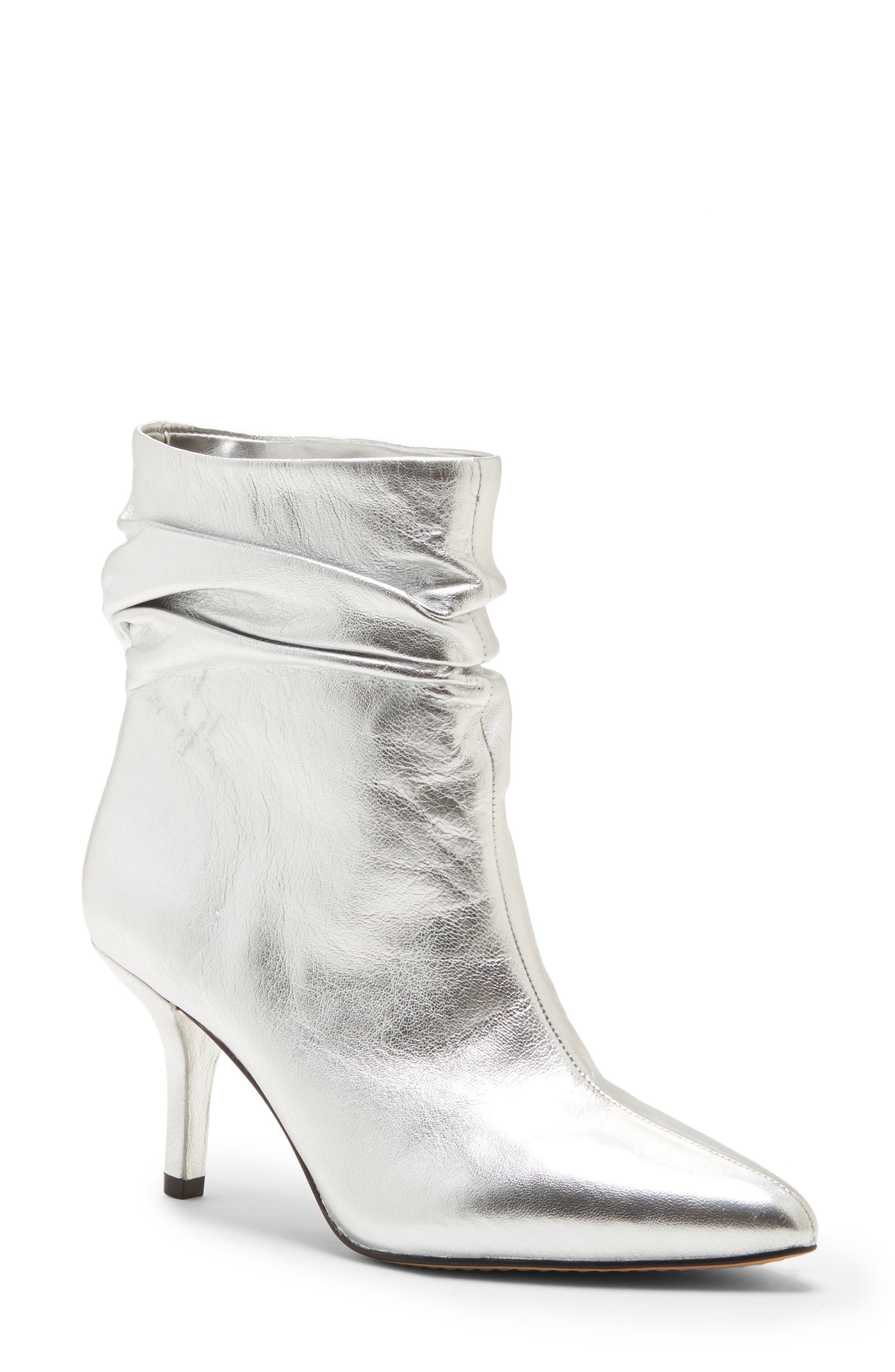 VINCE CAMUTO, Abrianna Bootie, Main thumbnail 1, color, GLEAMING SILVER LEATHER