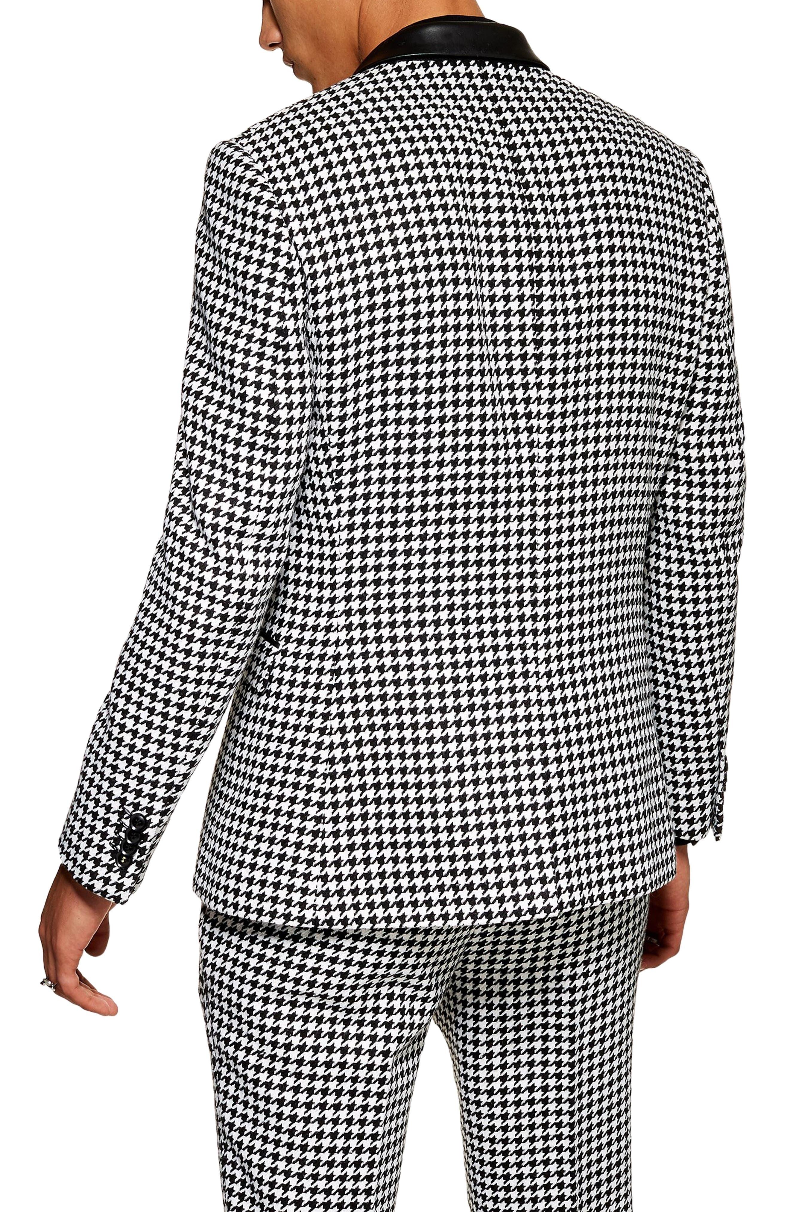 TOPMAN, Roe Skinny Fit Suit Jacket, Alternate thumbnail 2, color, 001