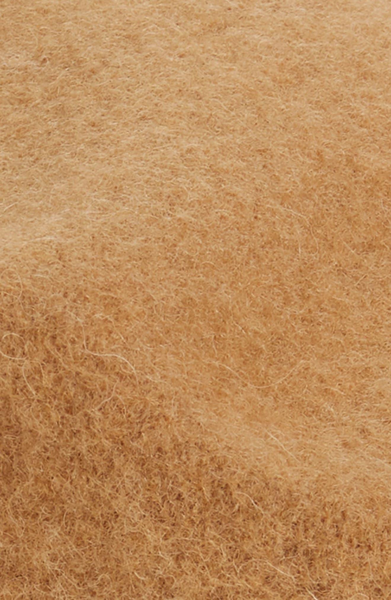 HALOGEN<SUP>®</SUP>, Wool Blend Beret, Alternate thumbnail 2, color, TAN CAMEL HEATHER