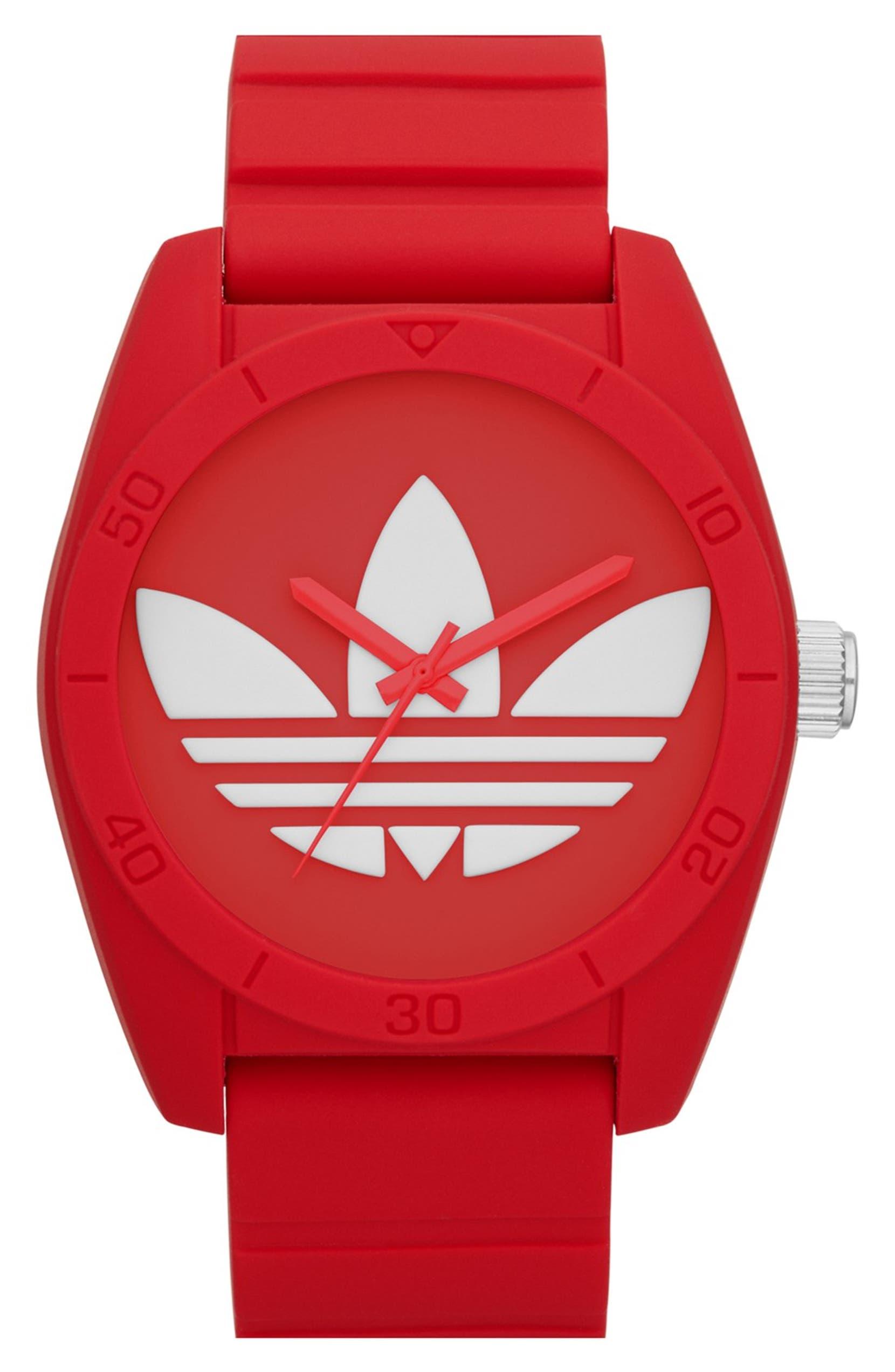 quality design 7309d 3b7fe adidas Originals  Santiago  Silicone Strap Watch, 42mm   Nordstrom