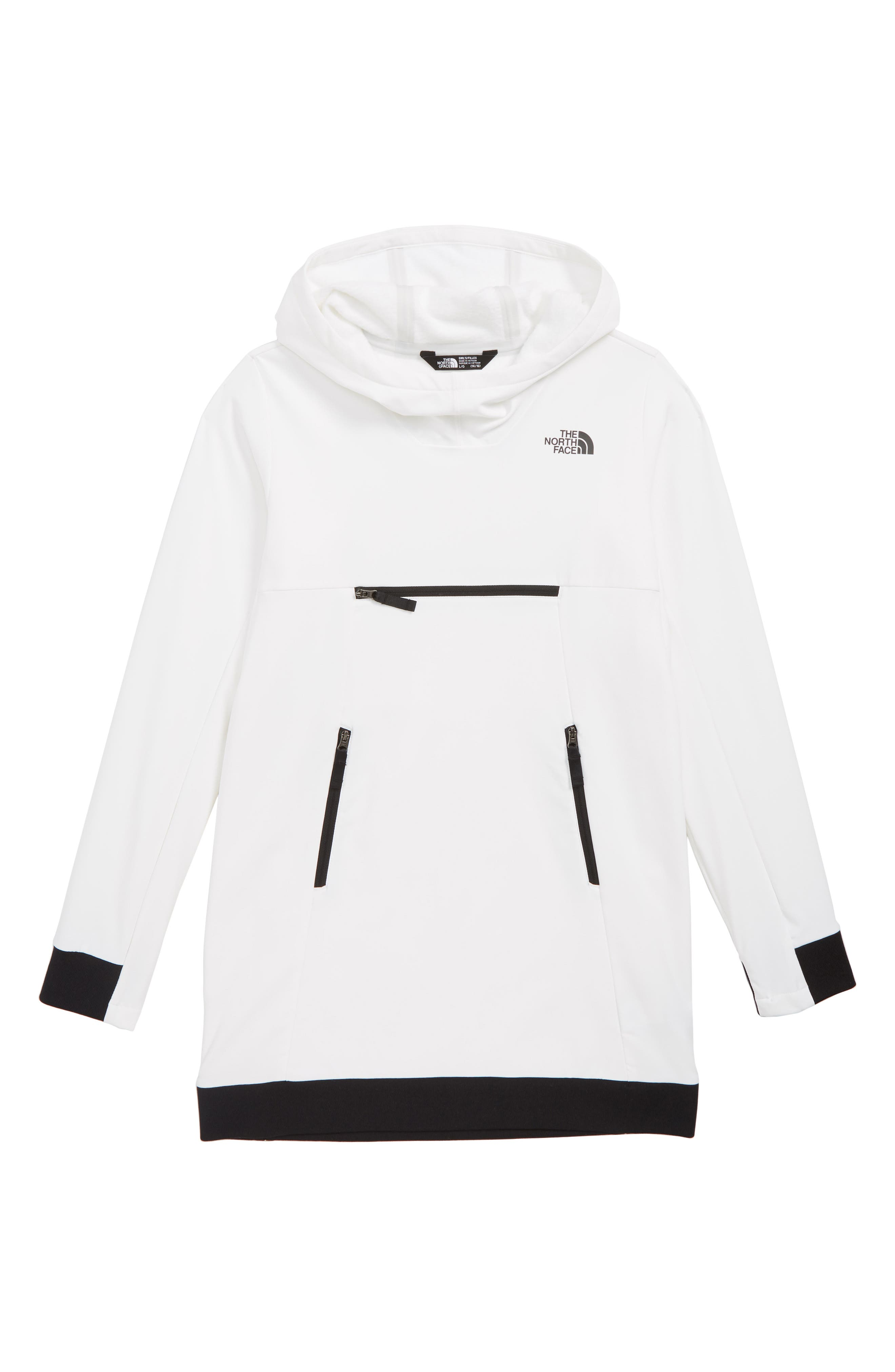 THE NORTH FACE Tekno Pullover Hoodie, Main, color, TNF WHITE