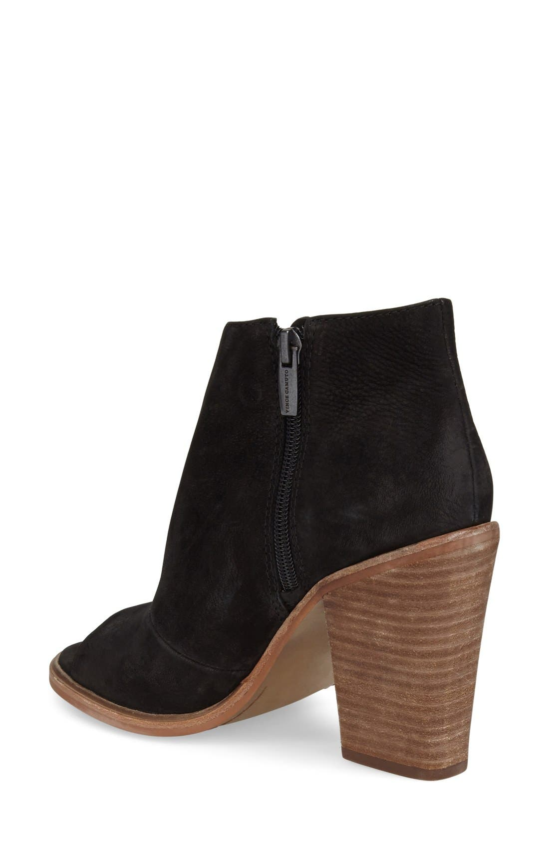 VINCE CAMUTO, 'Katleen' Peep Toe Bootie, Alternate thumbnail 2, color, 001