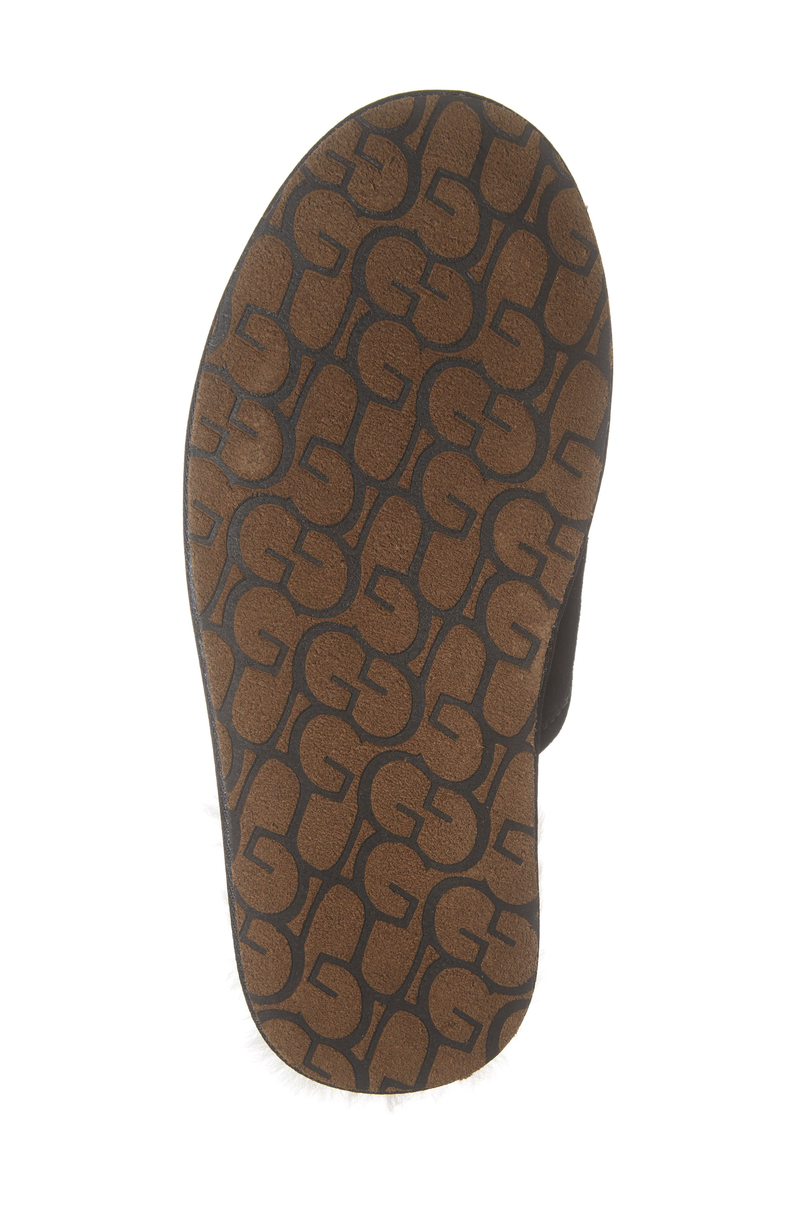 UGG<SUP>®</SUP>, Scuff Slipper, Alternate thumbnail 6, color, BLACK SUEDE