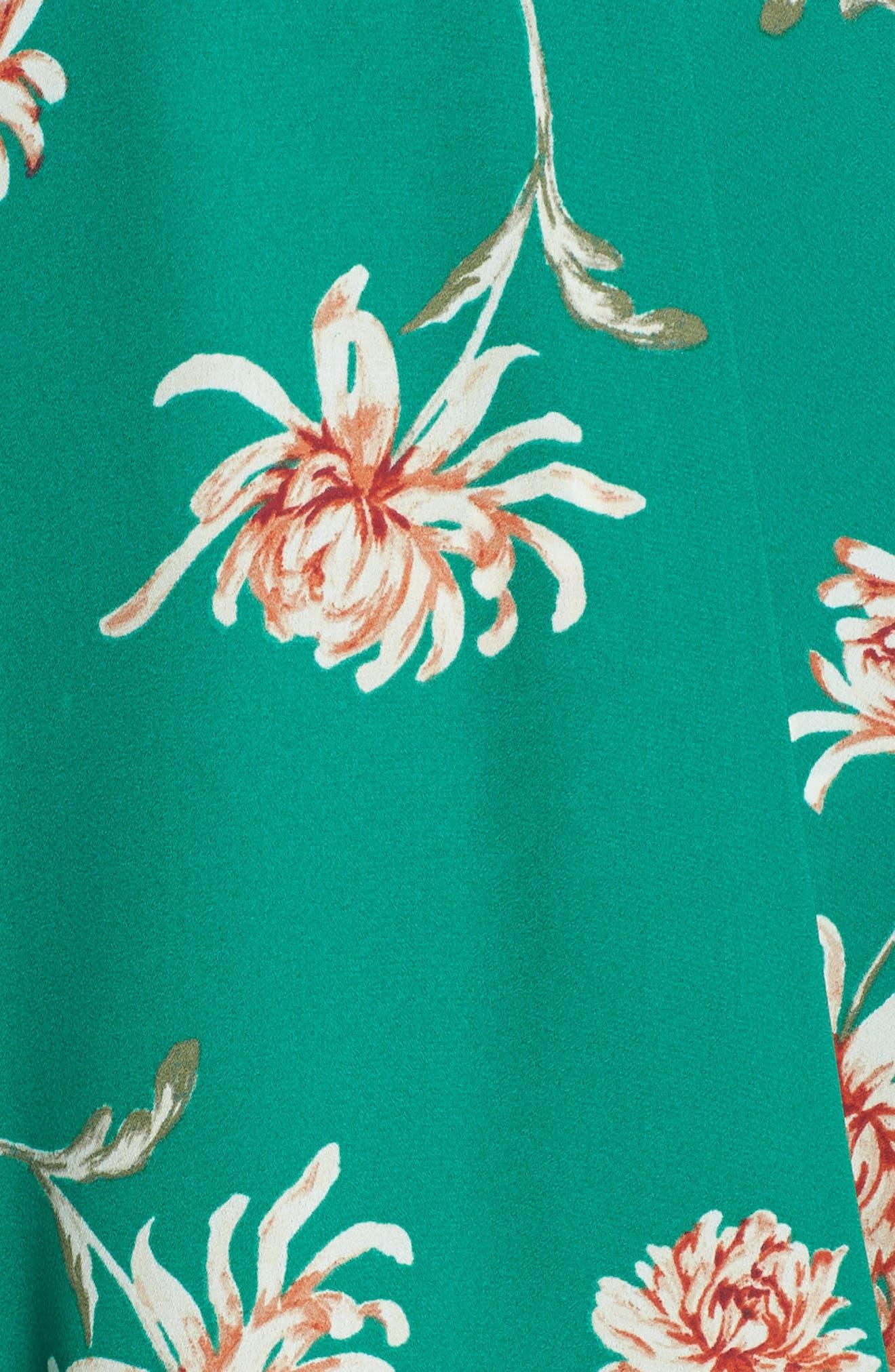 BB DAKOTA, Garden Strolls Blossom Party Minidress, Alternate thumbnail 6, color, PEPPER GREEN