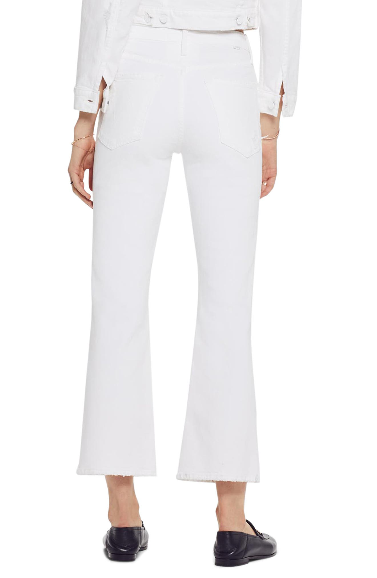 MOTHER, The Tripper High Waist Crop Bootcut Jeans, Alternate thumbnail 2, color, ALMOST INNOCENT