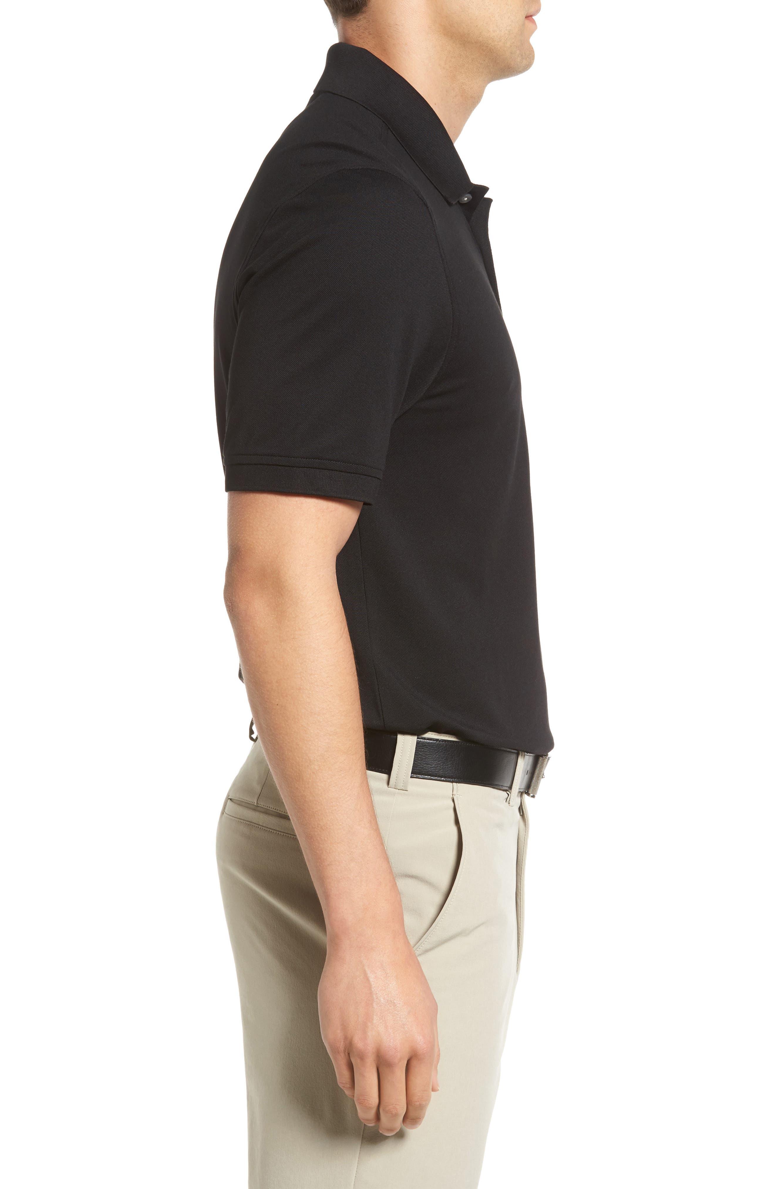 CUTTER & BUCK, Advantage Golf Polo, Alternate thumbnail 3, color, BLACK