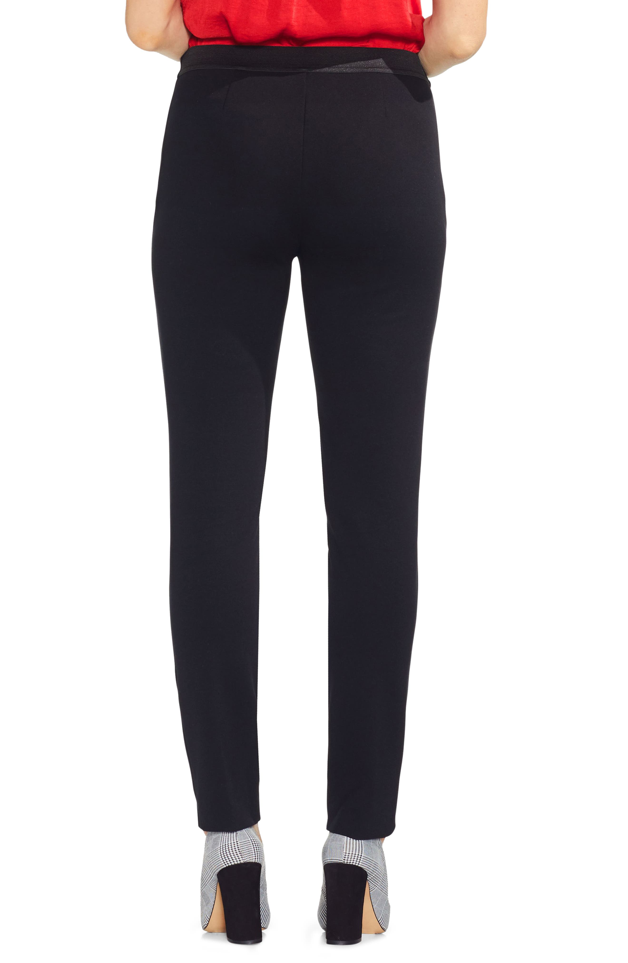 VINCE CAMUTO, Ponte Skinny Ankle Pants, Alternate thumbnail 2, color, 001