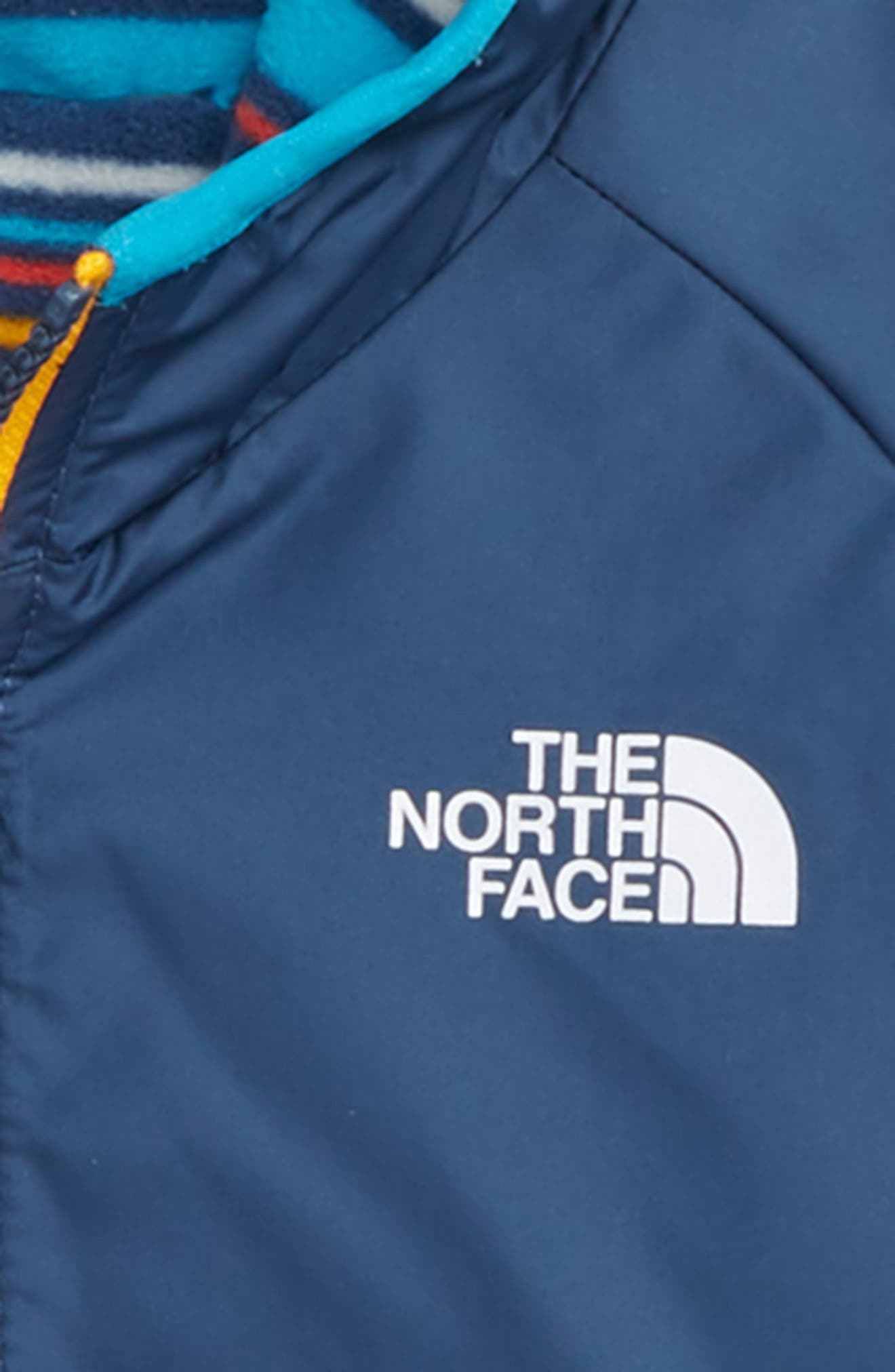 THE NORTH FACE, Breezeway Reversible Water Repellent Jacket, Alternate thumbnail 3, color, SHADY BLUE