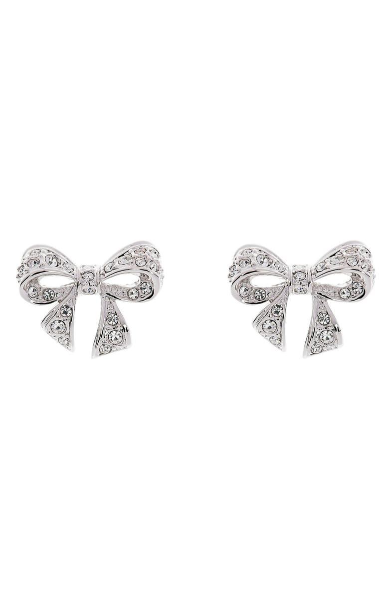 38b7efa73 TED BAKER LONDON 'Pepe' Crystal Bow Stud Earrings, Main, color, ...