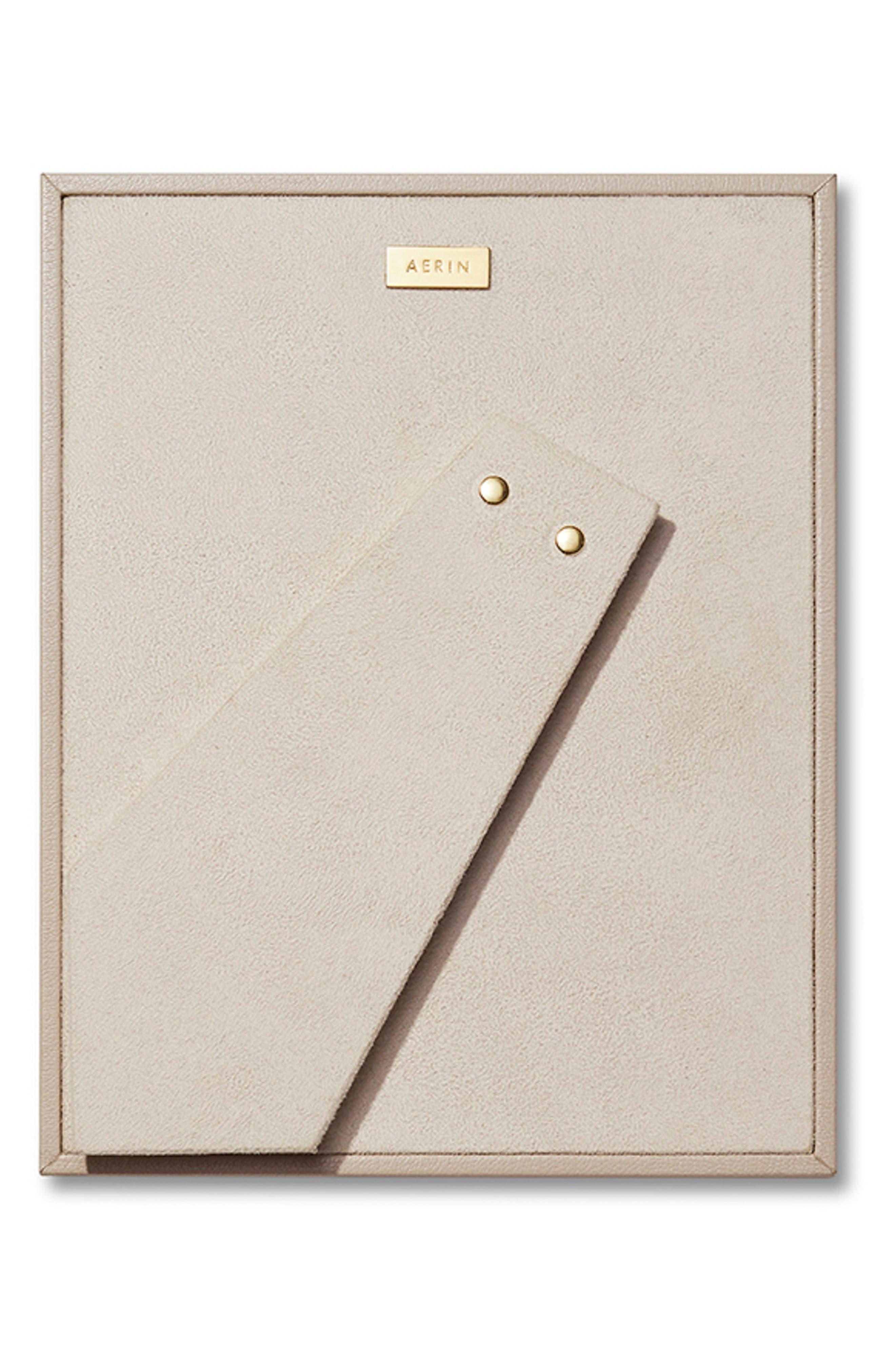 AERIN, Valentina Leather Frame, Alternate thumbnail 2, color, PEBBLE