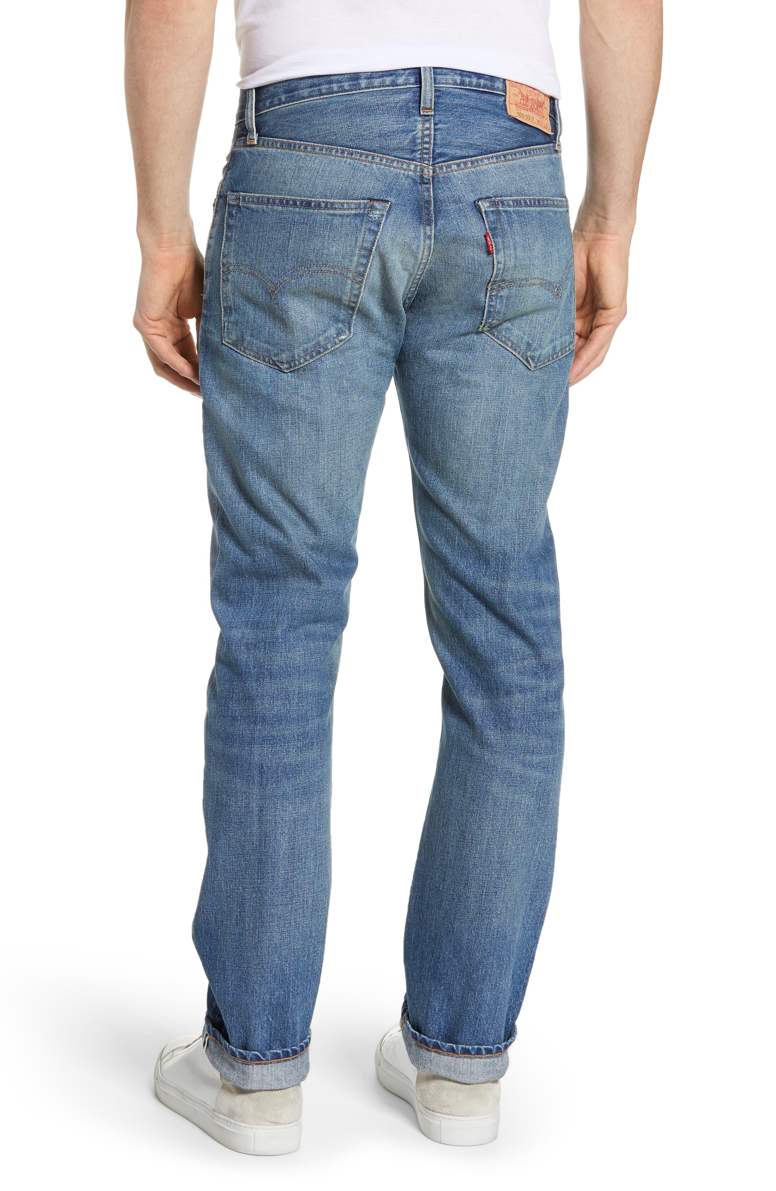 LEVI'S<SUP>®</SUP> VINTAGE CLOTHING, 1967 505<sup>™</sup> Slim Fit Selvedge Jeans, Alternate thumbnail 2, color, SPUTNIK