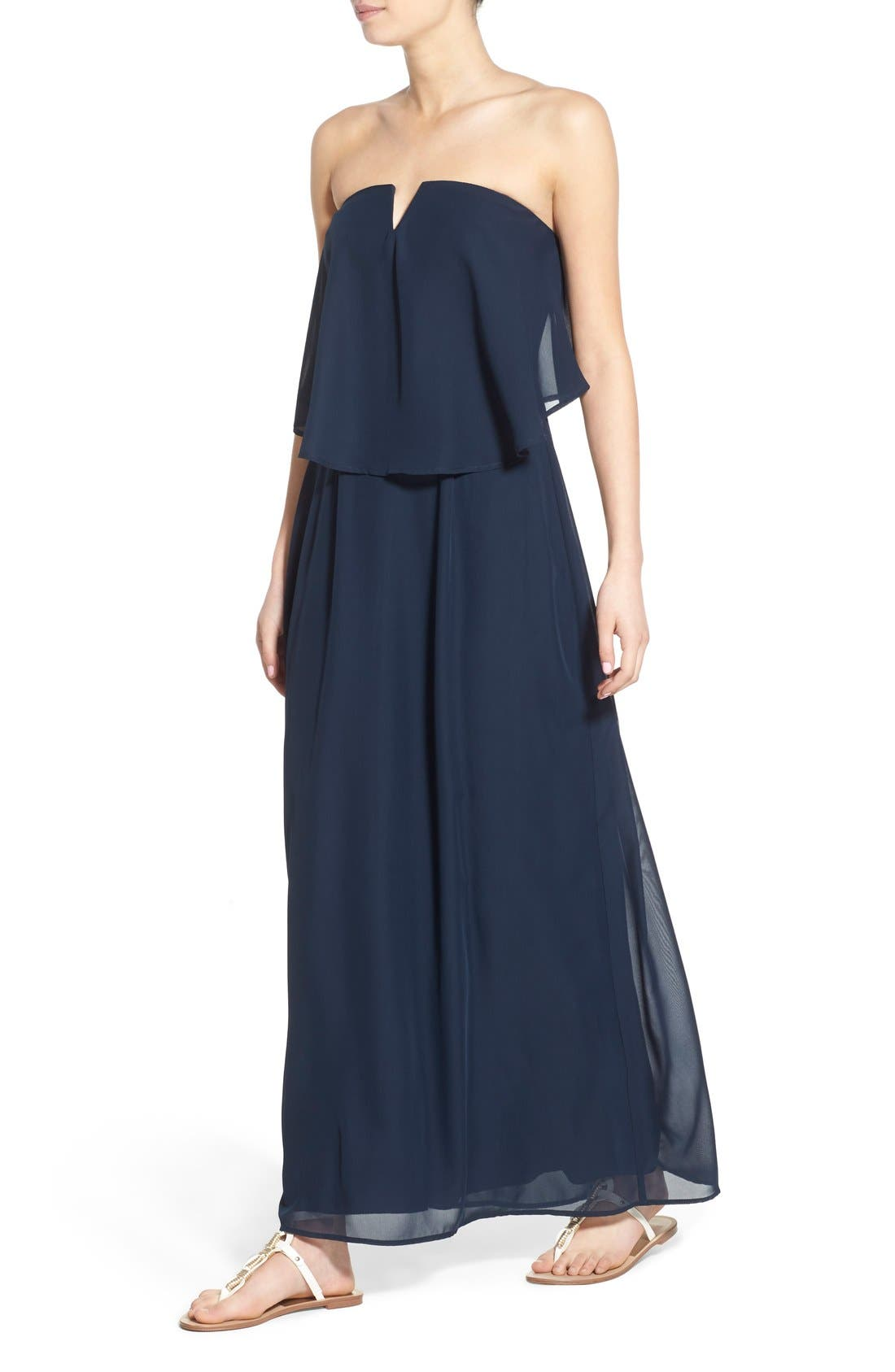 WAY-IN, Strapless Popover Maxi Dress, Alternate thumbnail 4, color, 411