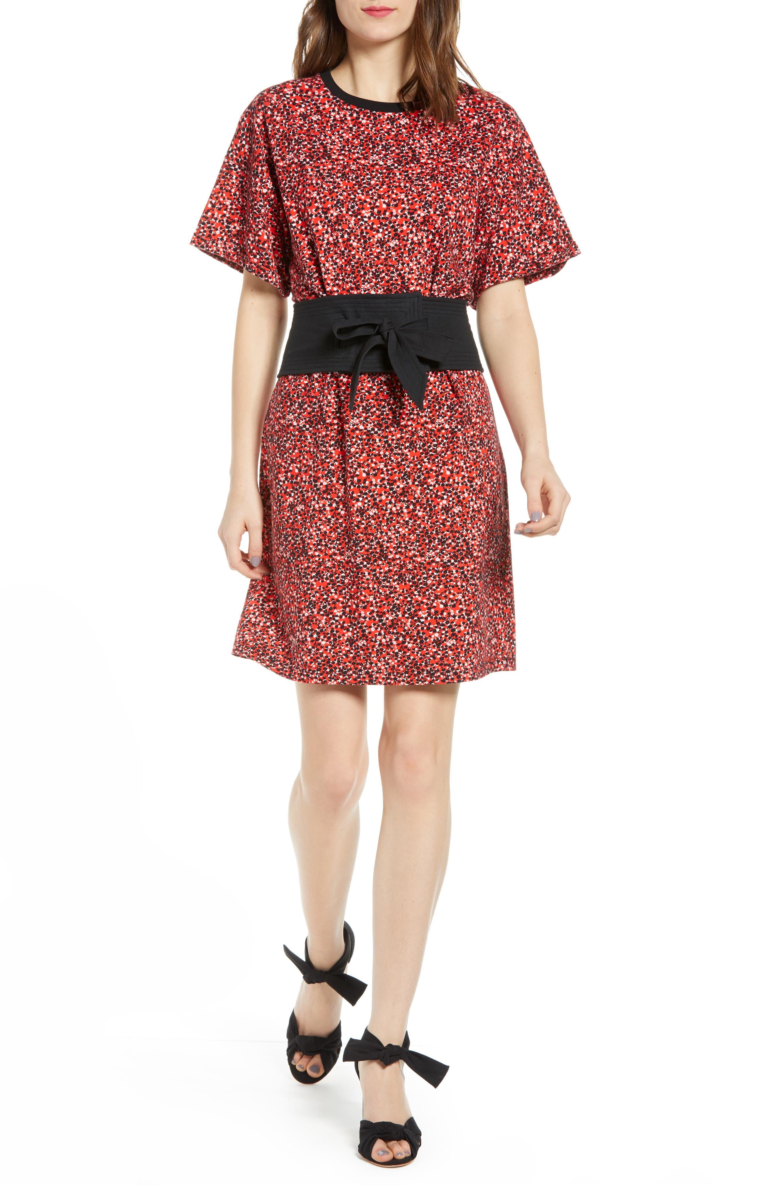 Rebecca Minkoff Marta Floral Print Minidress, Red