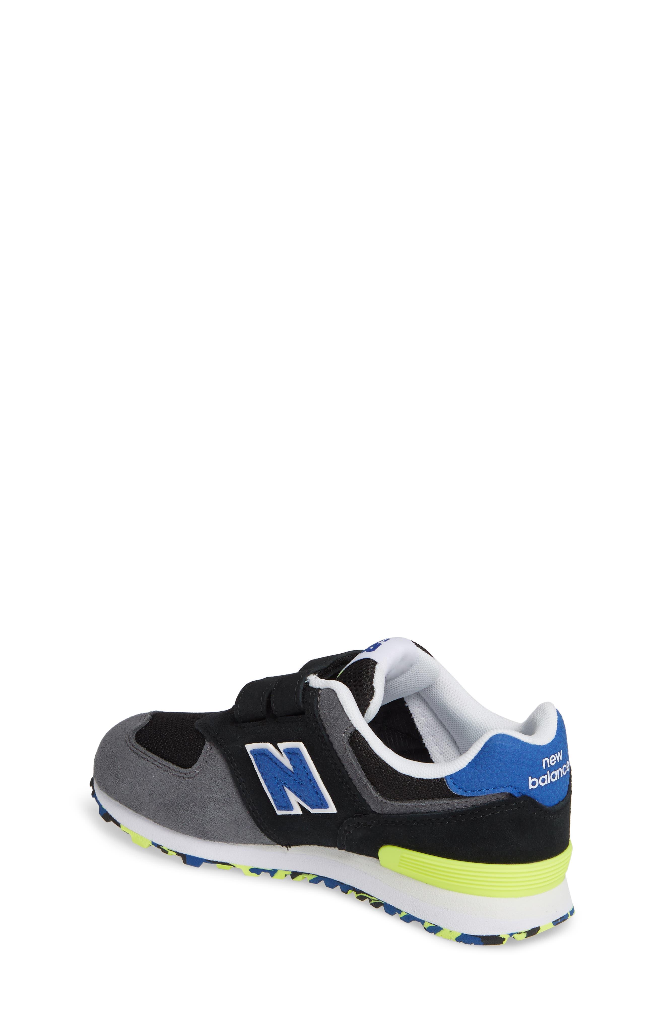 NEW BALANCE, 574 Sneaker, Alternate thumbnail 2, color, BLACK/ BLACK