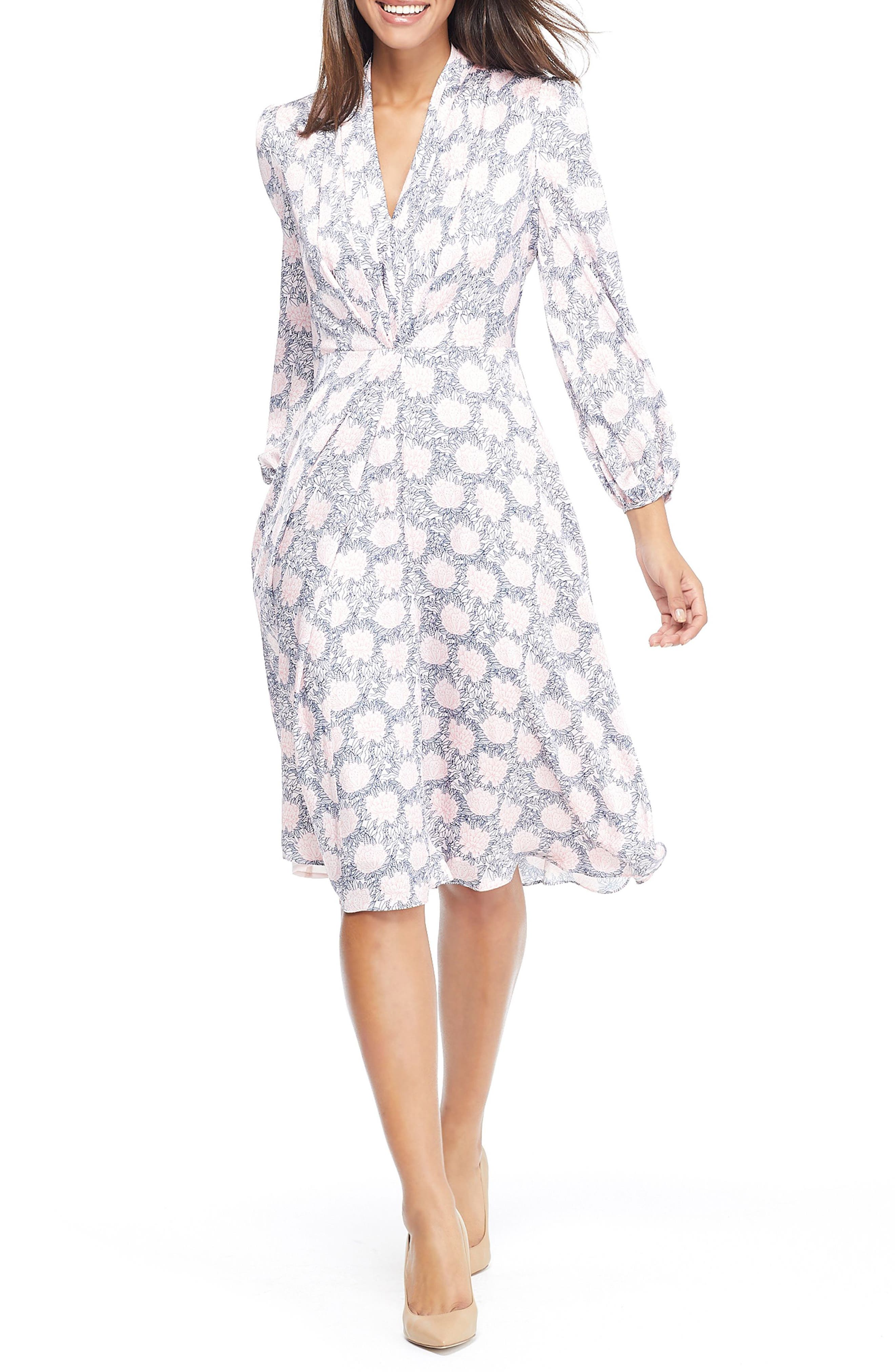 GAL MEETS GLAM COLLECTION Lizzie Floral Dress, Main, color, 697